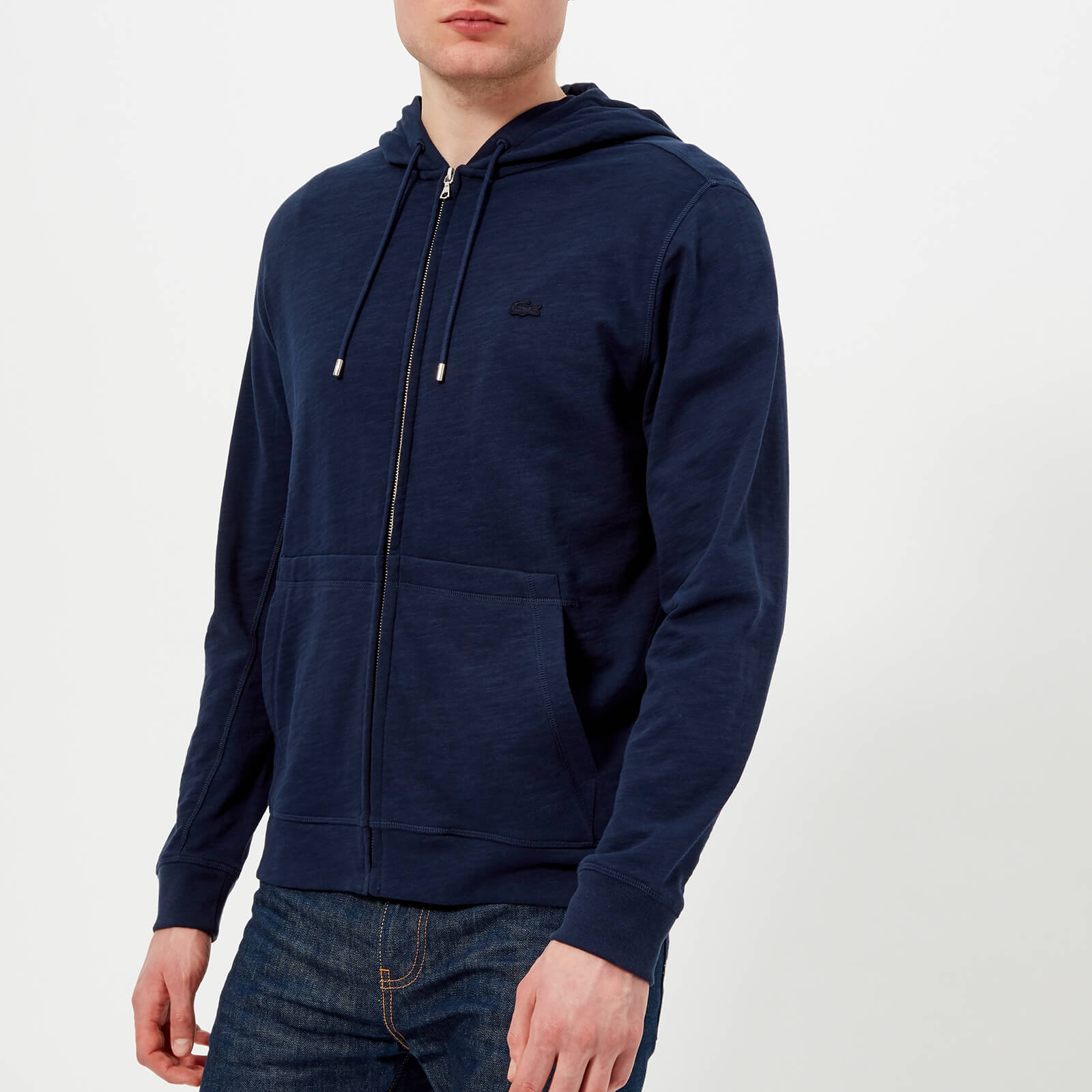 58e4977f94fd Lacoste Men s Zipped Hoody - Navy Blue - Free UK Delivery over £50