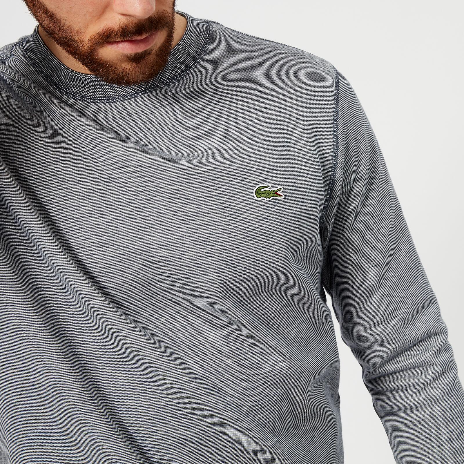 f4d62770 Lacoste Men's Crew Neck Sweatshirt - Navy Blue/Flour