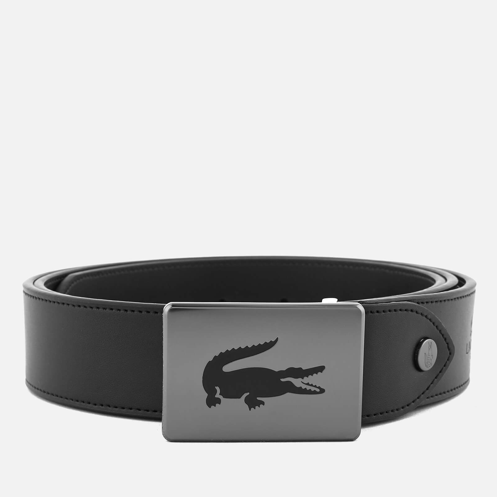 eaa7775e612708 Lacoste Men s Sportswear Canvas Leather Mix Belt - Black Brown - Free UK  Delivery over £50