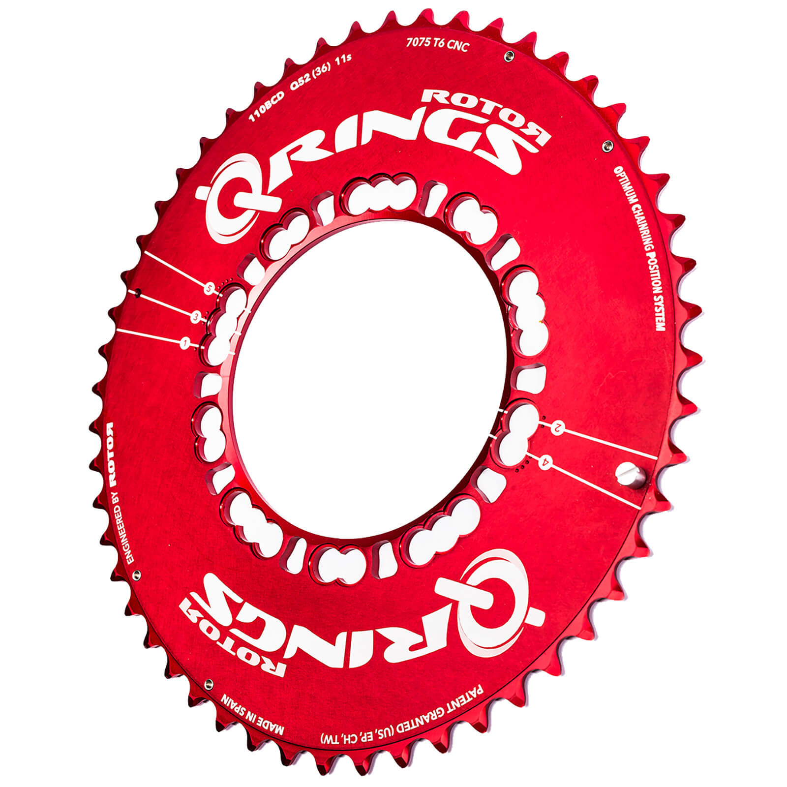 Rotor Q Aero Outer Chainring - Red