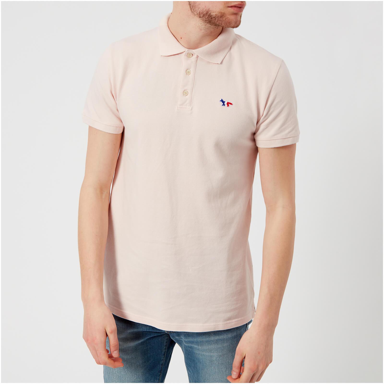 61cd91dc957b Maison Kitsuné Men s Tricolor Fox Patch Polo Shirt - Pink - Free UK ...