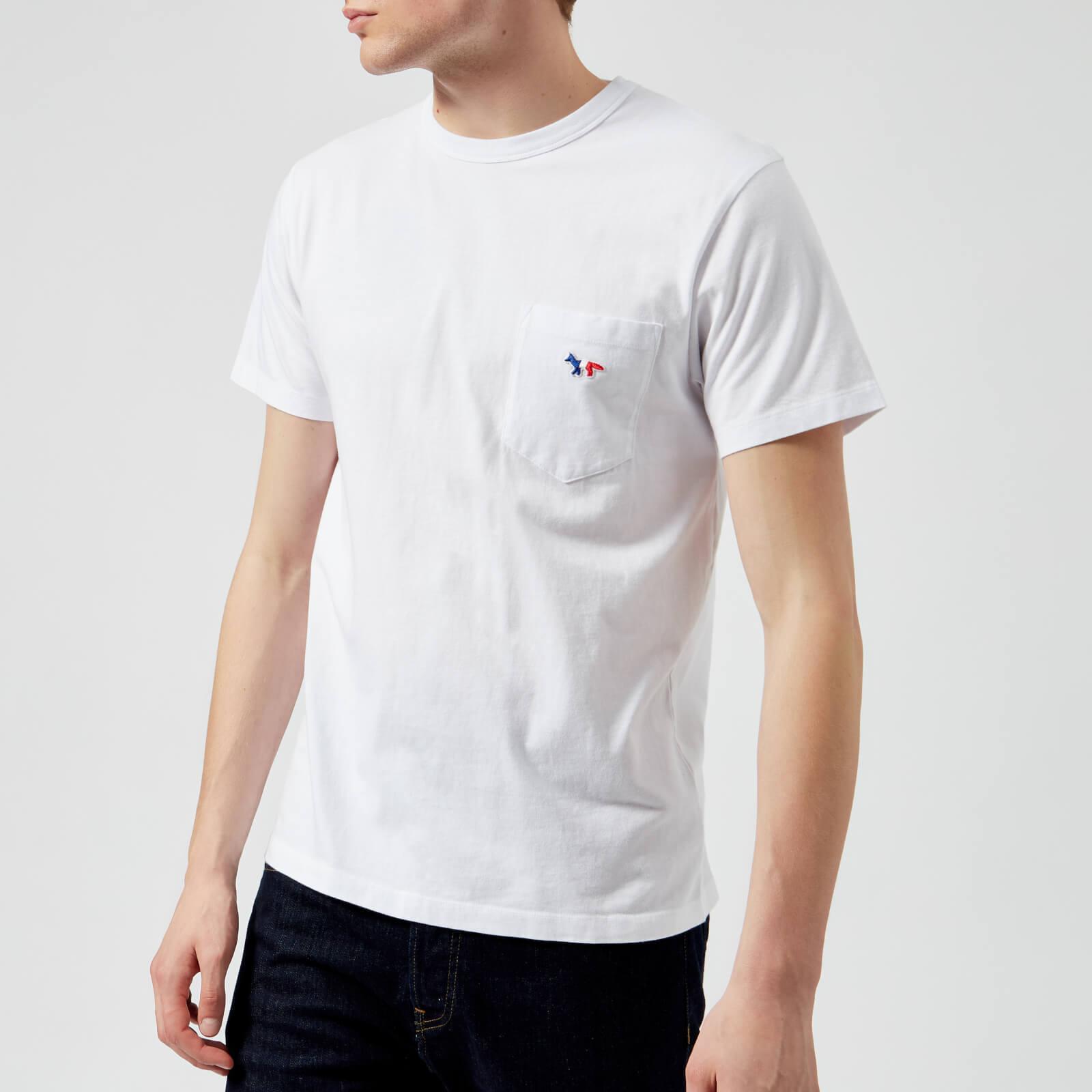 20a532b0c953 Maison Kitsuné Men s Tricolor Fox Patch T-Shirt - White - Free UK Delivery  over £50
