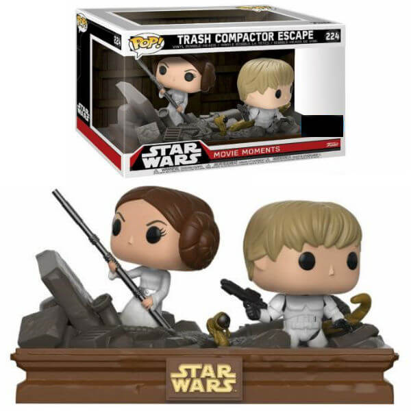Star Wars Movie Moments Luke & Leia Trash Compactor Escape EXC Pop! Vinyl Figure 2-Pack