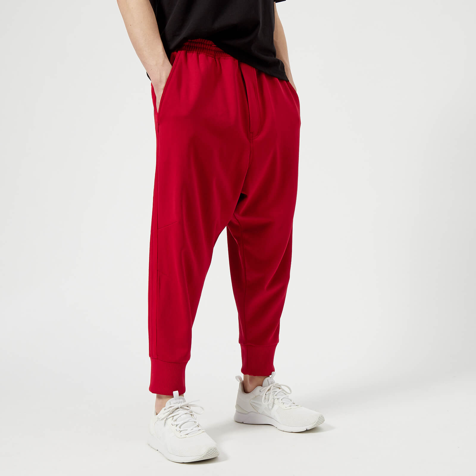 f9e531a41 Y-3 Men s 3 Stripe Track Pants - Chili Pepper Undyed - Free UK ...