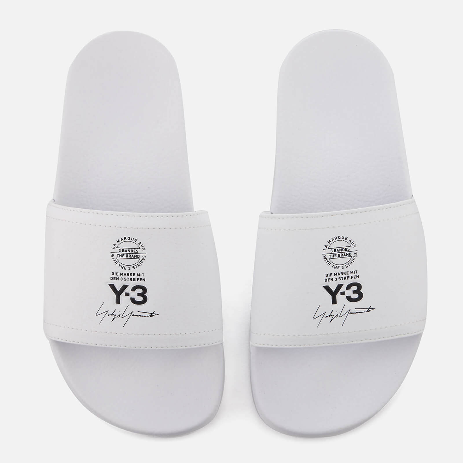 4bdb7ac58c8f92 Y-3 Adilette Slides - White - Free UK Delivery over £50