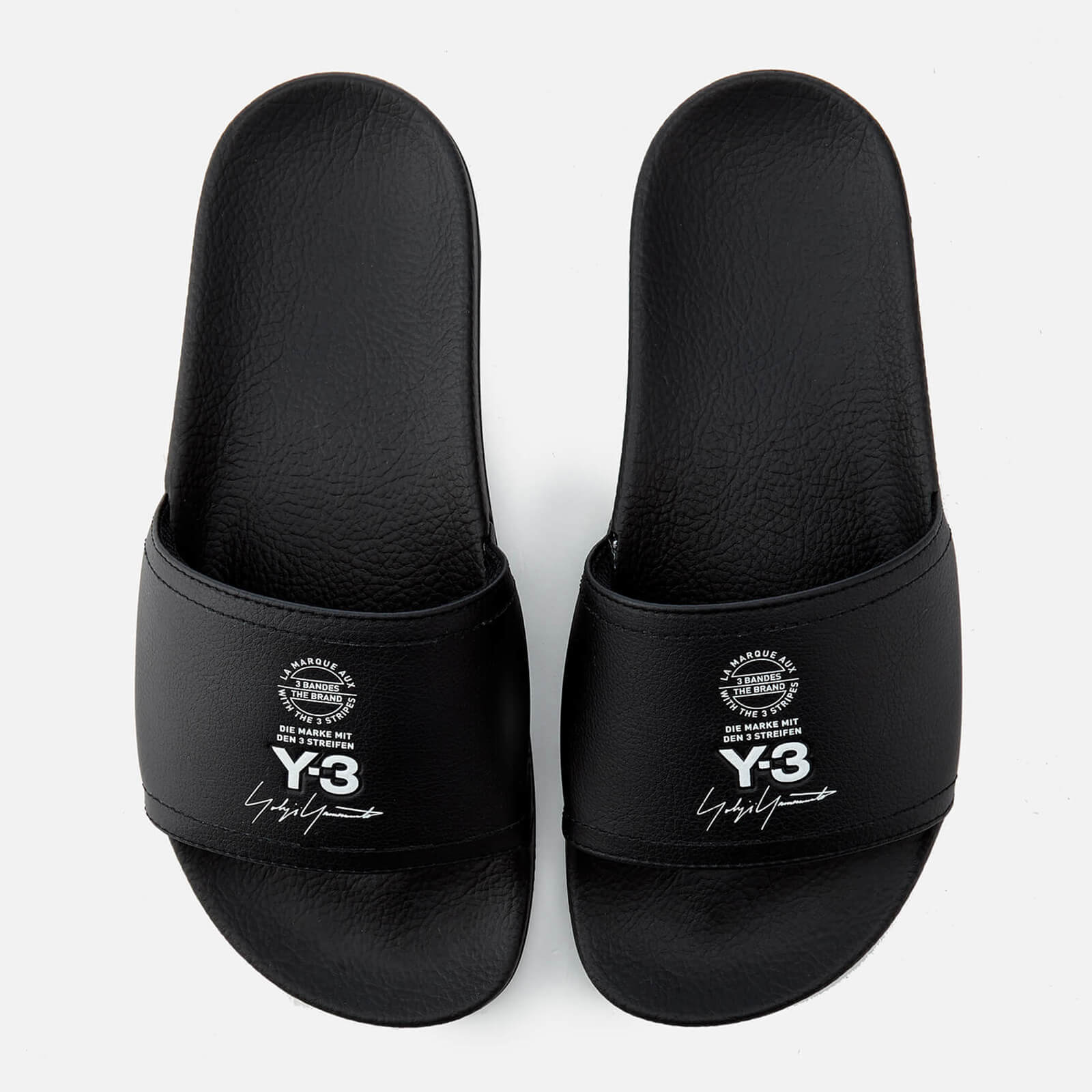 041573934 Y-3 Adilette Slides - Black - Free UK Delivery over £50