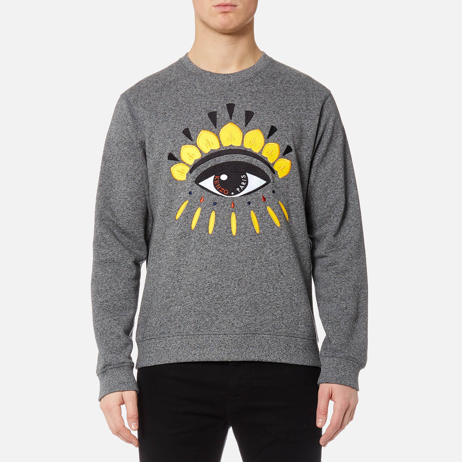 b1d5b5a4d2d5f KENZO Men's Classic Eye Sweatshirt - Anthracite - Free UK Delivery over £50
