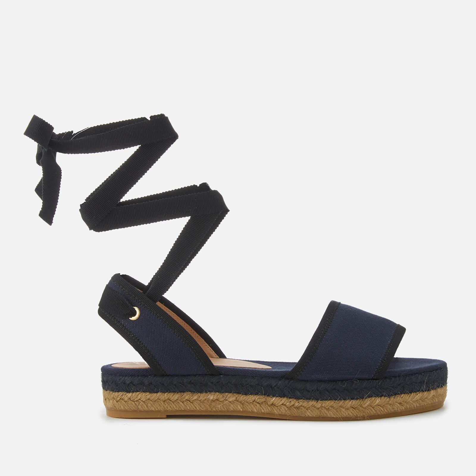 39d01ea4a21 Castañer Women s Worquidea Flat Espadrille Sandals - Azul Marino - Free UK  Delivery over £50