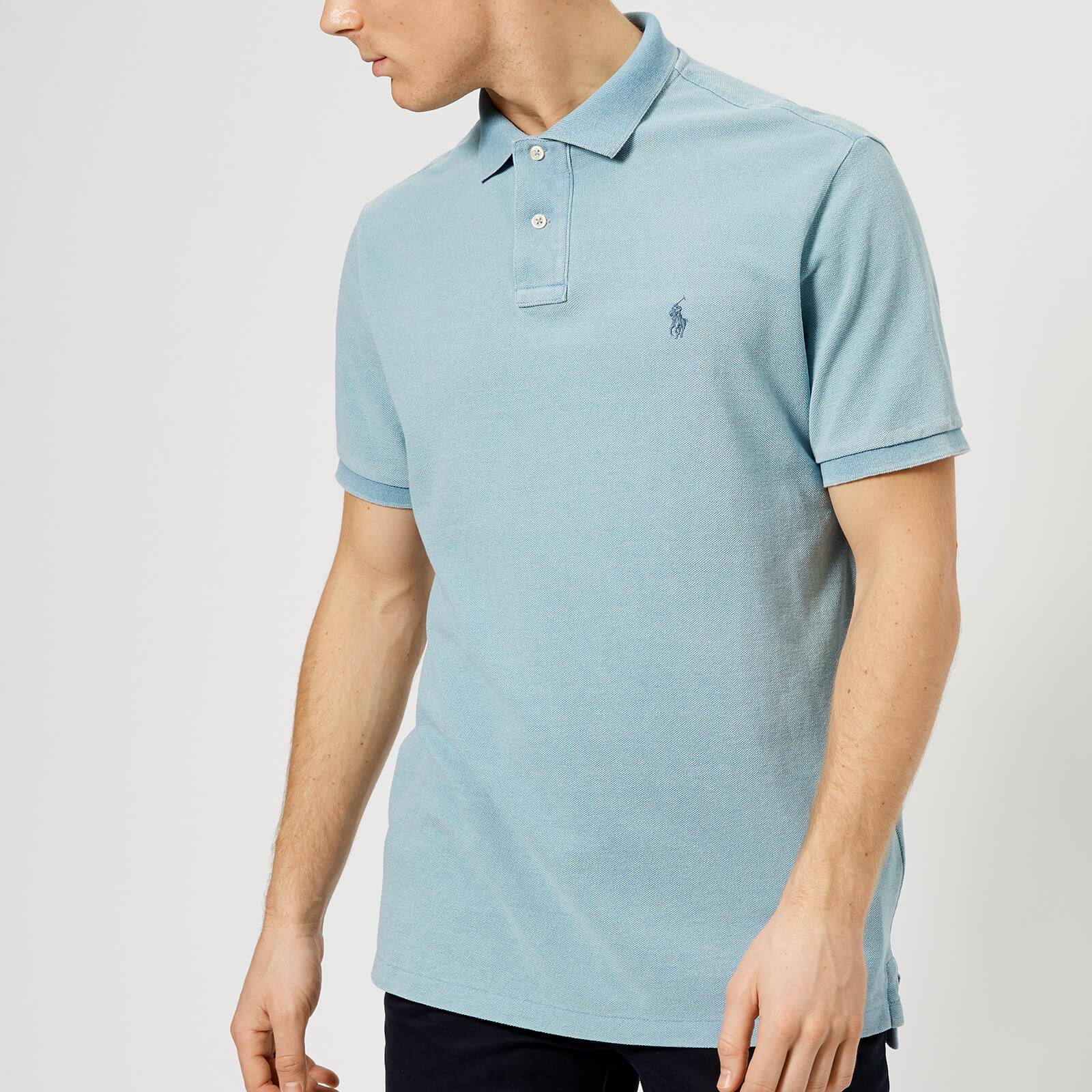 5ebbdfc1 Polo Ralph Lauren Men's Short Sleeve Polo Shirt - Light Indigo - Free UK  Delivery over £50