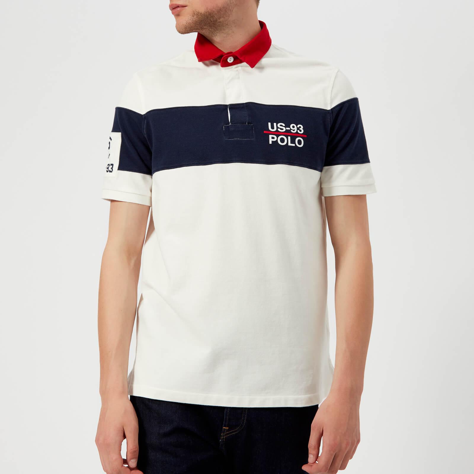 6b7a7c72 Polo Ralph Lauren Men's Basic Mesh Rugby Polo Shirt - Deckwash White