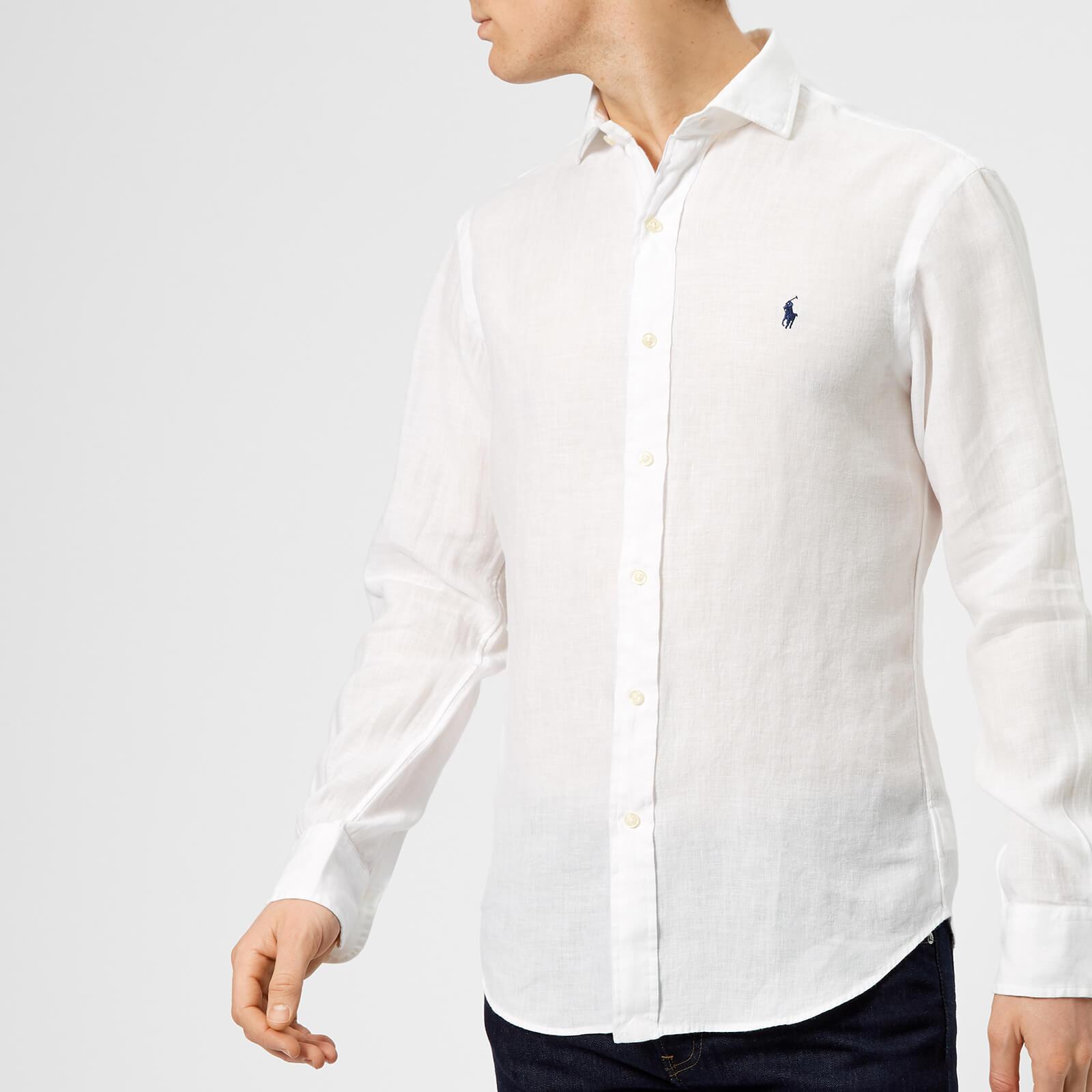 557d82f4 Mens Long Sleeve White Linen Shirts - DREAMWORKS