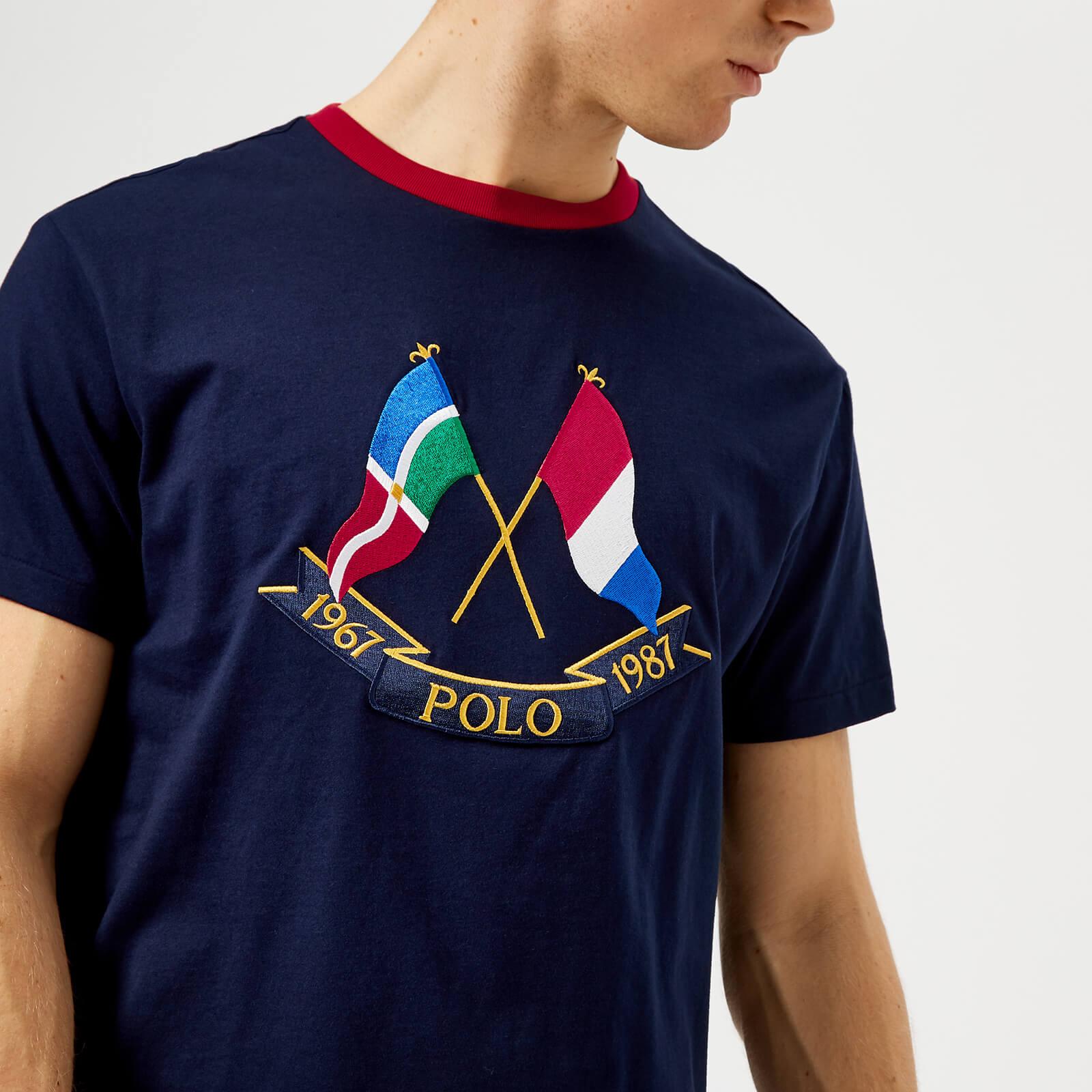 fc355cbd66c7 Polo Ralph Lauren Men s Cross Flags T-Shirt - Cruise Navy - Free UK  Delivery over £50