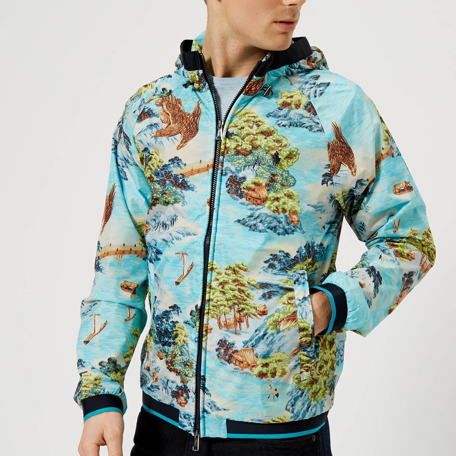 Polo Lauren Men's Ralph Hawaiian Landscape Windbreaker Jacket Lined mN0w8n
