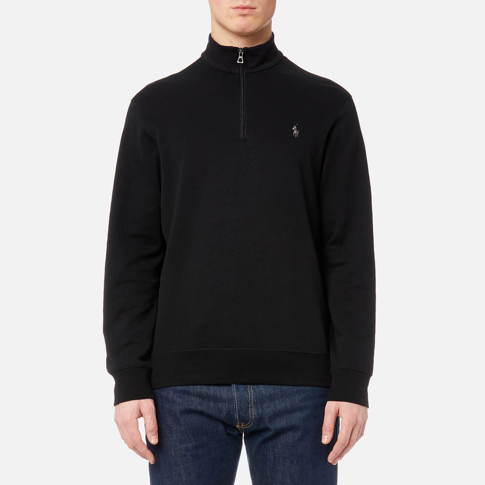 152fbad86a91f3 Polo Ralph Lauren Men's Half Zip Sweatshirt - Polo Black - Free UK Delivery  over £50