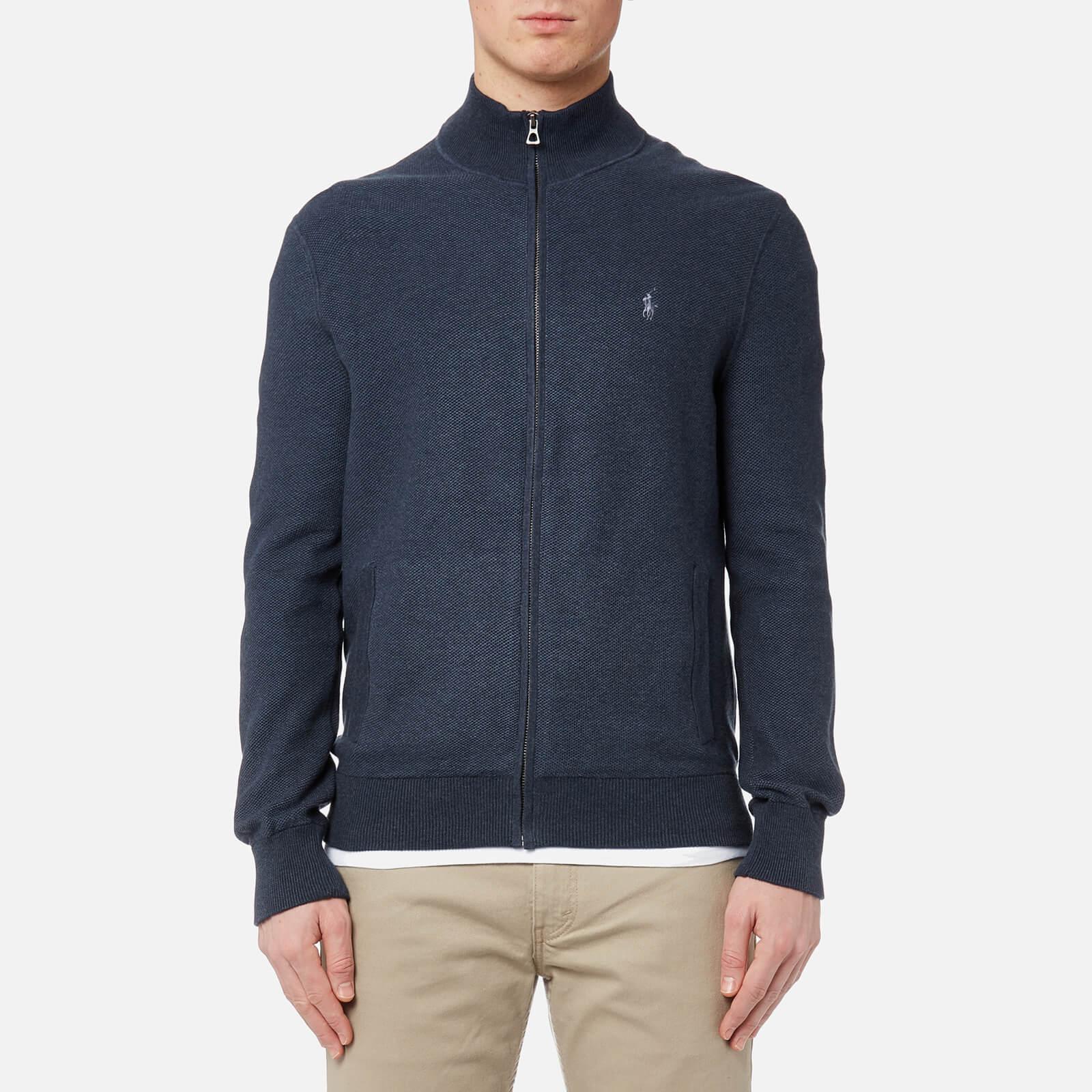 18691bf75b6f Polo Ralph Lauren Men s Full Zip Sweatshirt - Winter Navy Heather - Free UK  Delivery over £50