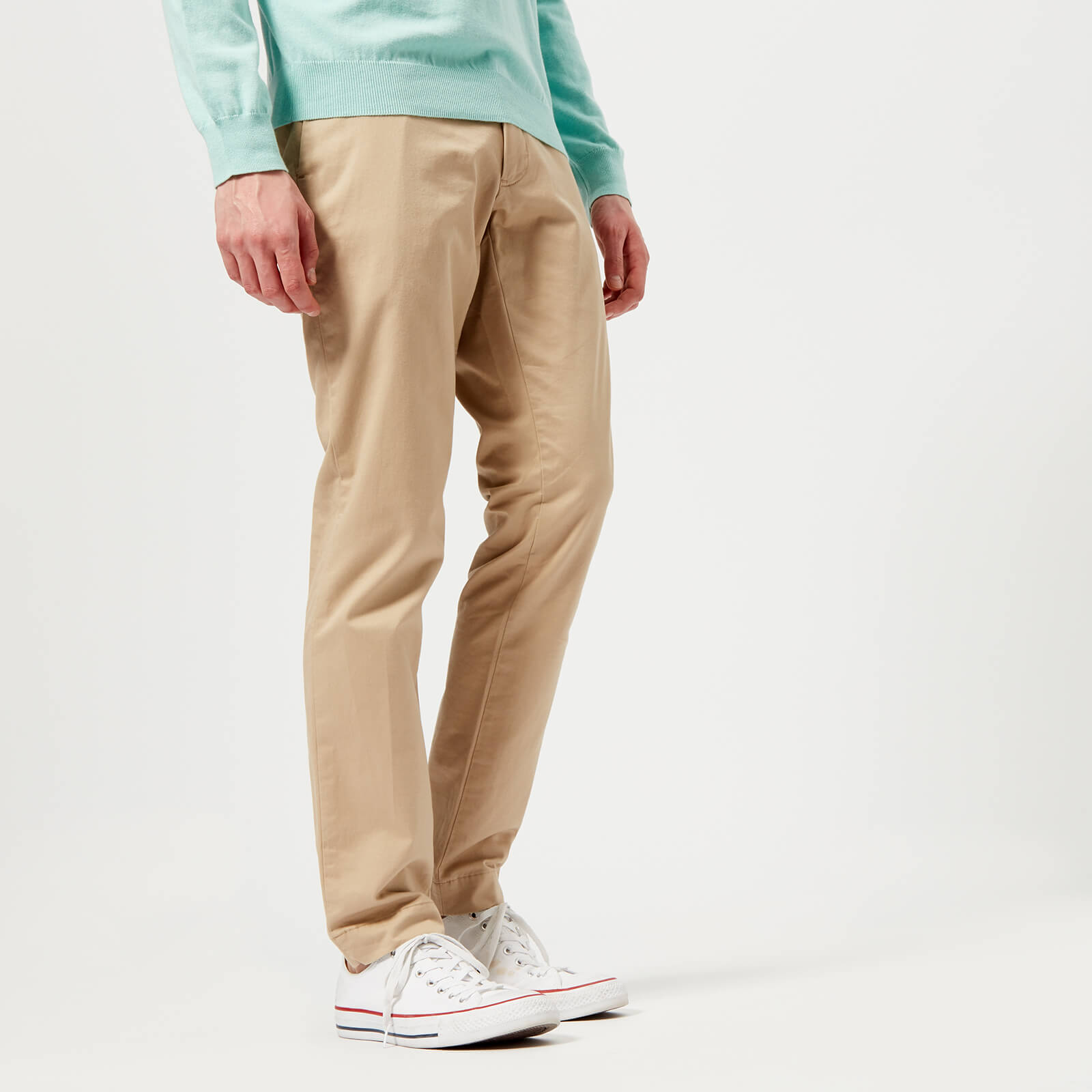 140effb2 Polo Ralph Lauren Men's Tailored Slim Fit Lightweight Military Chinos -  Classic Khaki - Free UK Delivery over £50