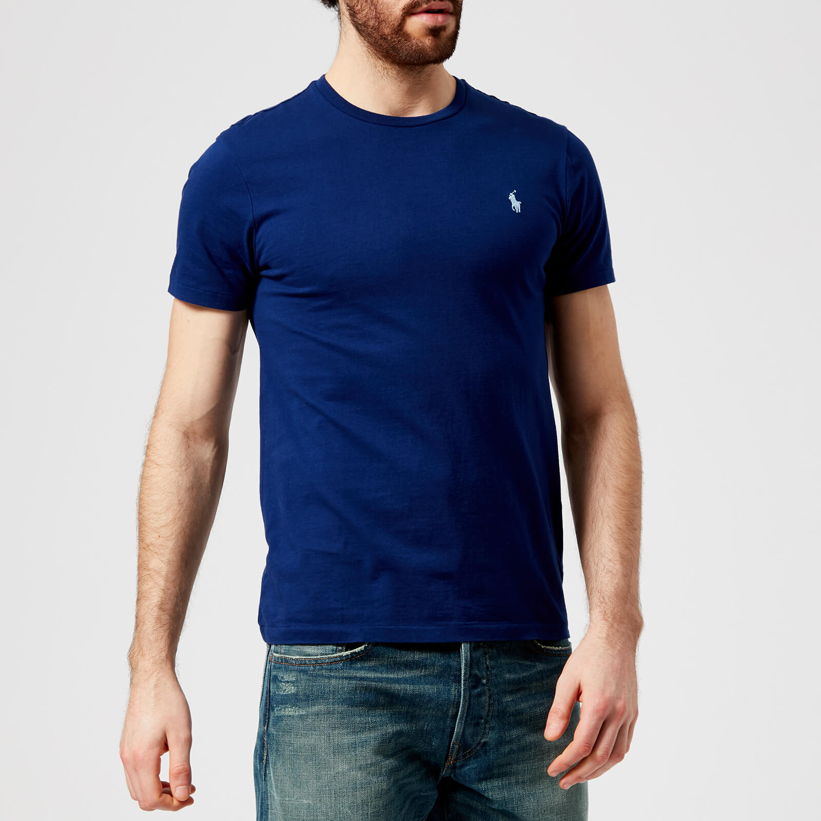 f8cd5f93a49 Polo Ralph Lauren Men s Basic Crew Neck Short Sleeve T-Shirt - Fall Royal -  Free UK Delivery over £50