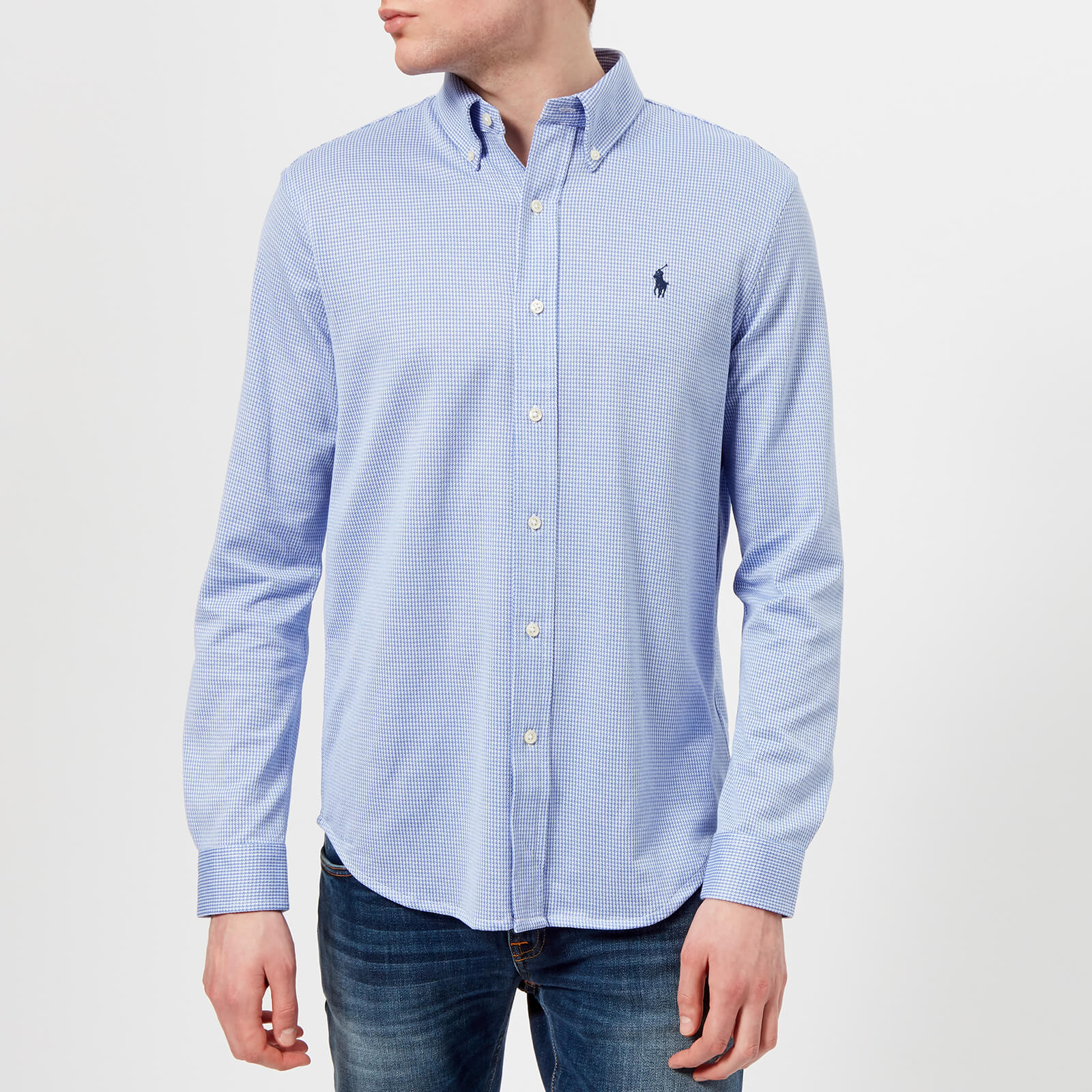 a7af239e Polo Ralph Lauren Men's Long Sleeve Oxford Pique Shirt - Stratford  Blue/White - Free UK Delivery over £50