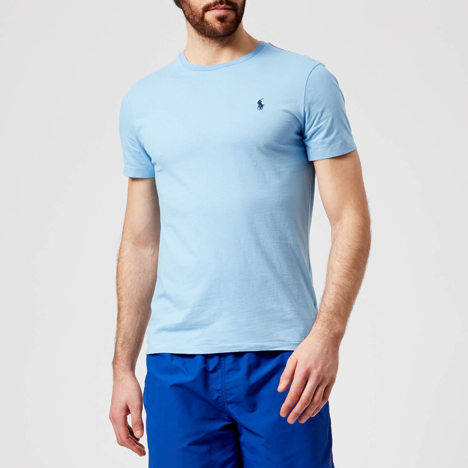 1ca55543 Polo Ralph Lauren Men's Short Sleeve Crew Neck T-Shirt - Blue Lagoon - Free  UK Delivery over £50