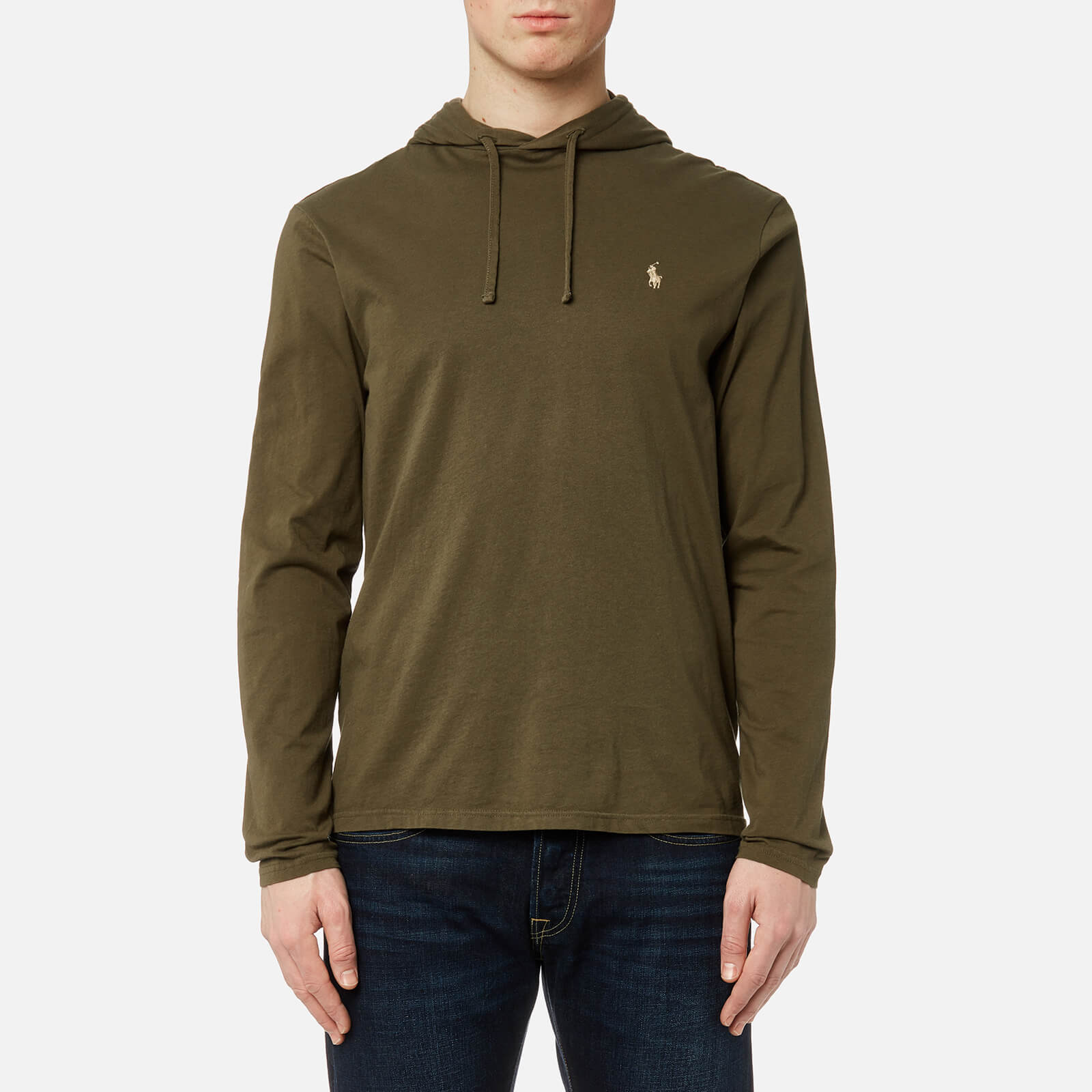 874398ff Polo Ralph Lauren Men's Hooded Long Sleeve T-Shirt - Defender Green - Free  UK Delivery over £50