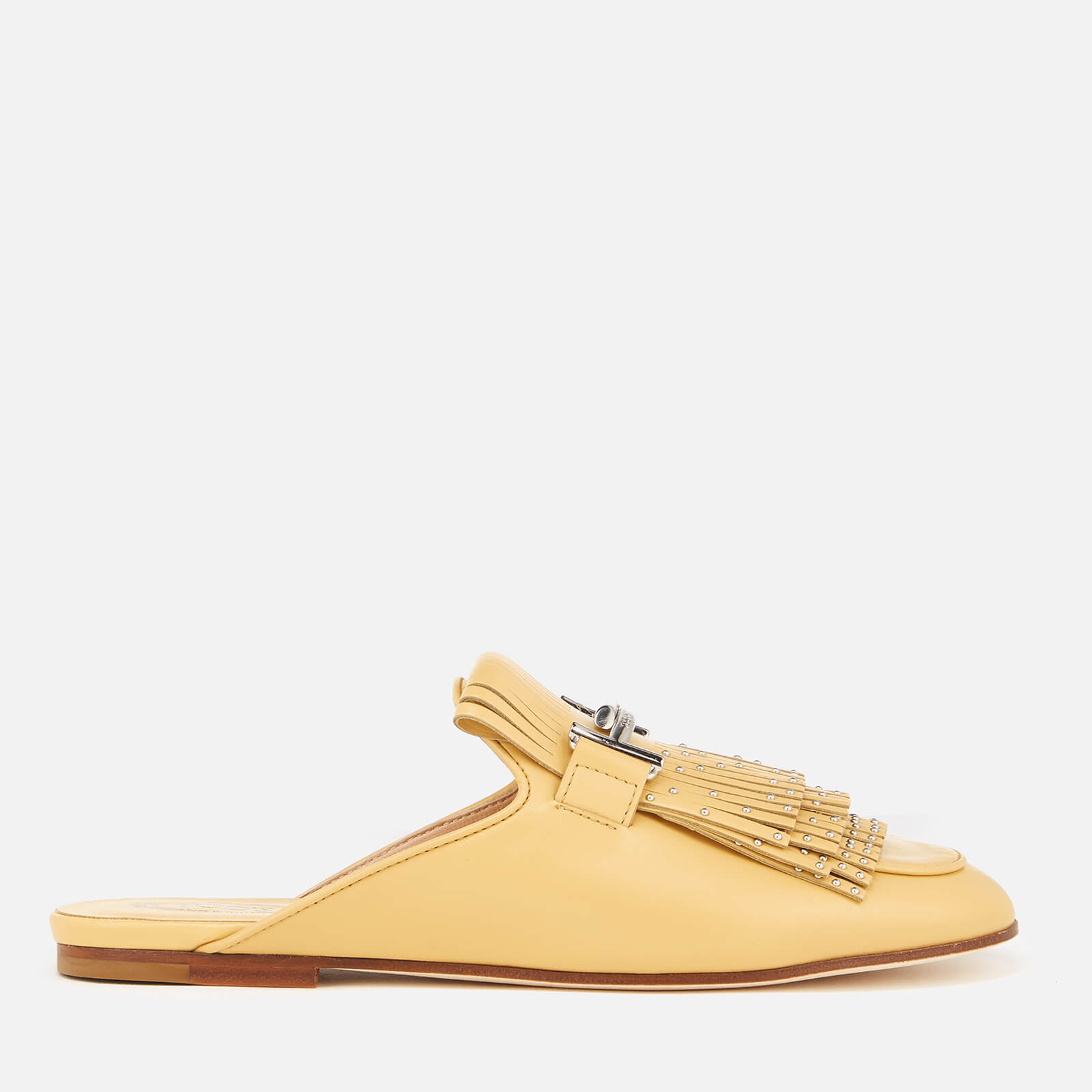 0aa92216f61 Tod s Women s Leather Double T Deinge Slip On Loafers - Yellow - Free UK  Delivery over £50