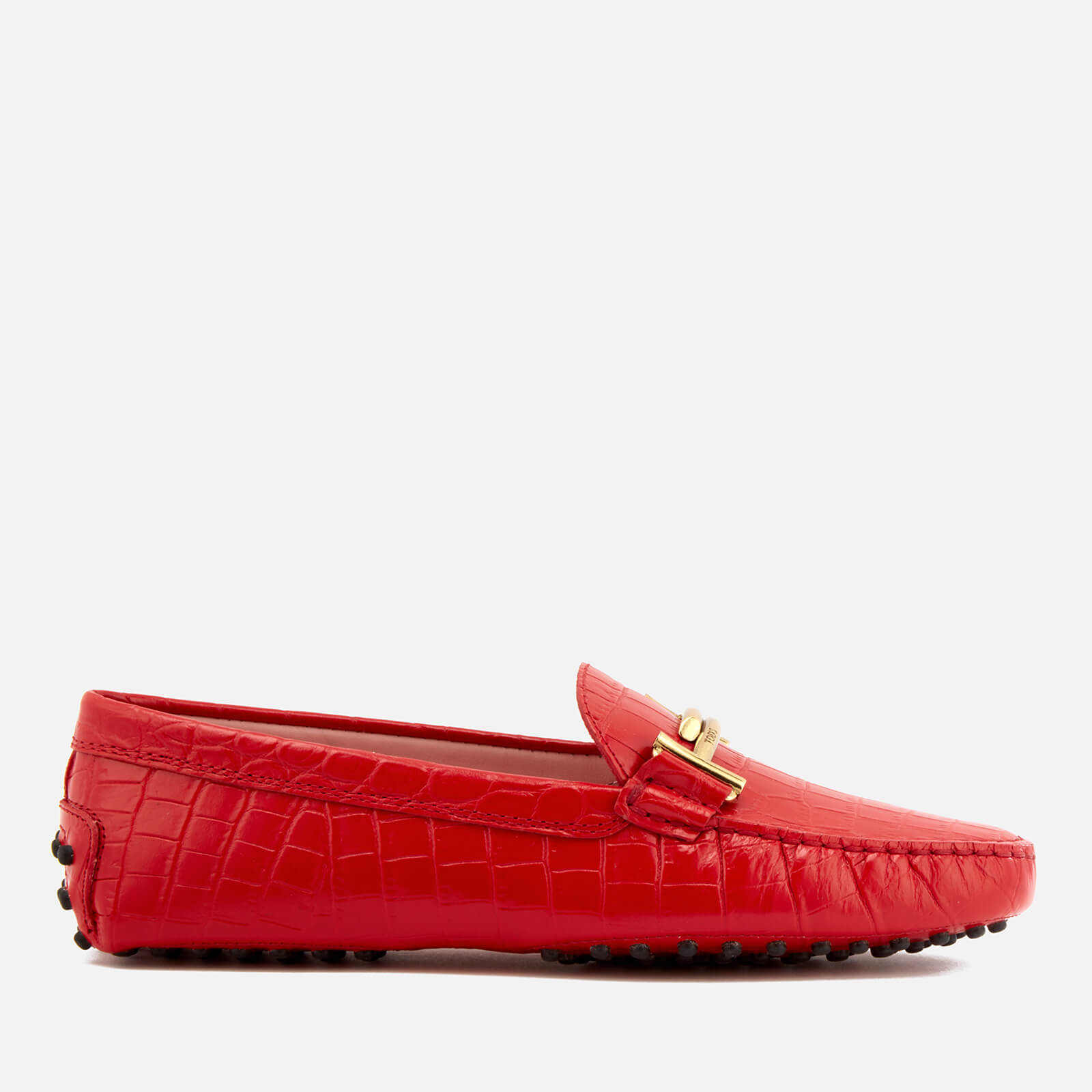 e4e1d3e7a7d Tod s Women s Print Croc Gommino Driving Shoes - Red - Free UK ...