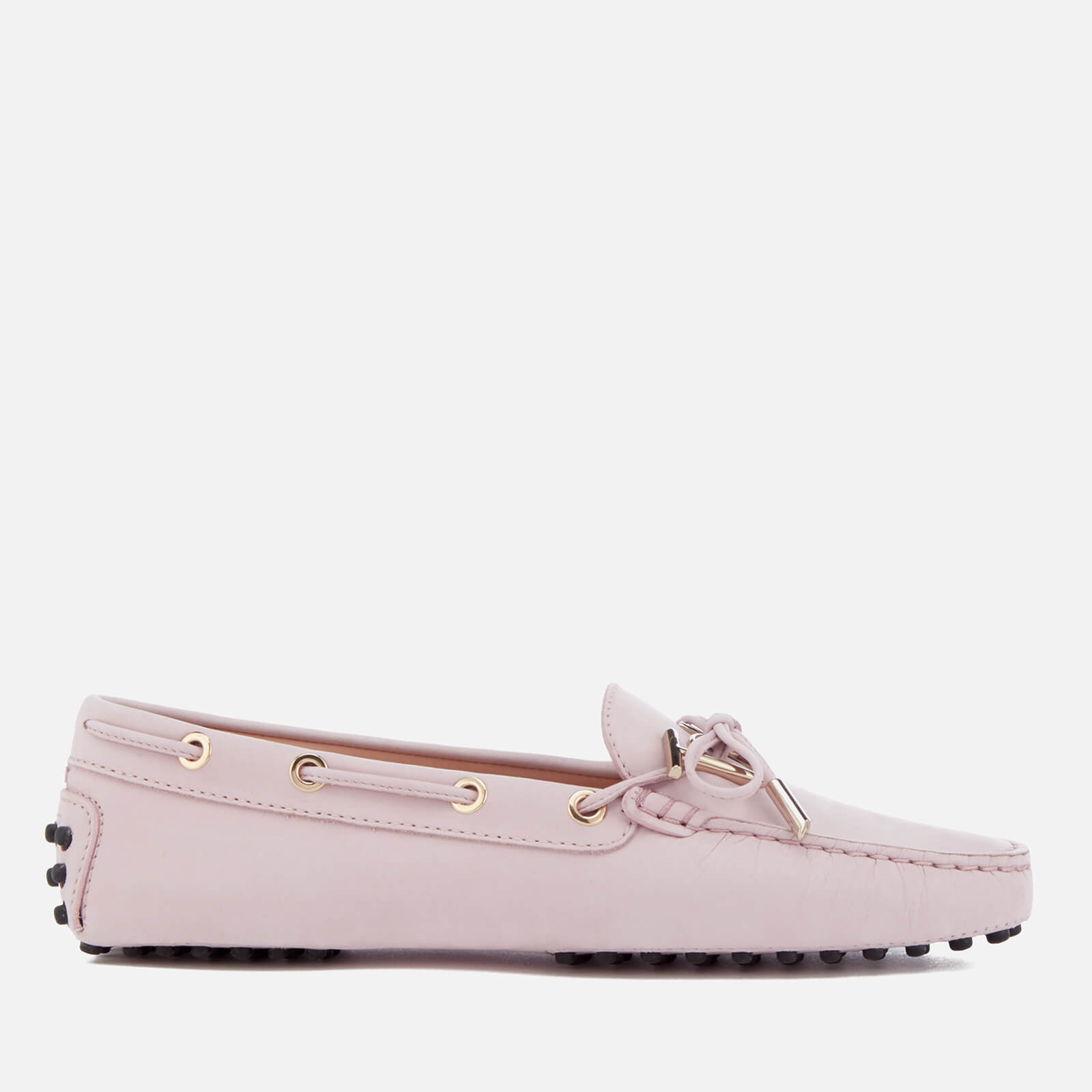 f505a1332c3 Tod s Women s Suede Gommino Heaven Logo Loafers - Light Pink - Free ...