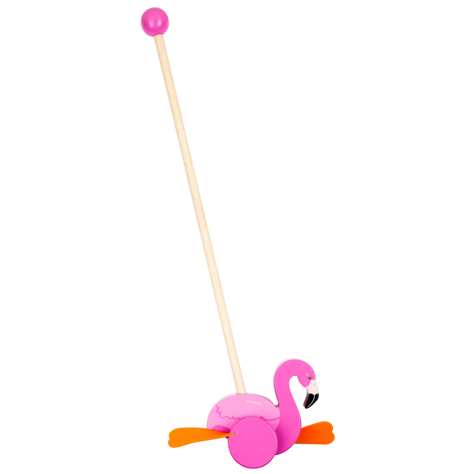 Sunnylife Push Along Flamingo Toy