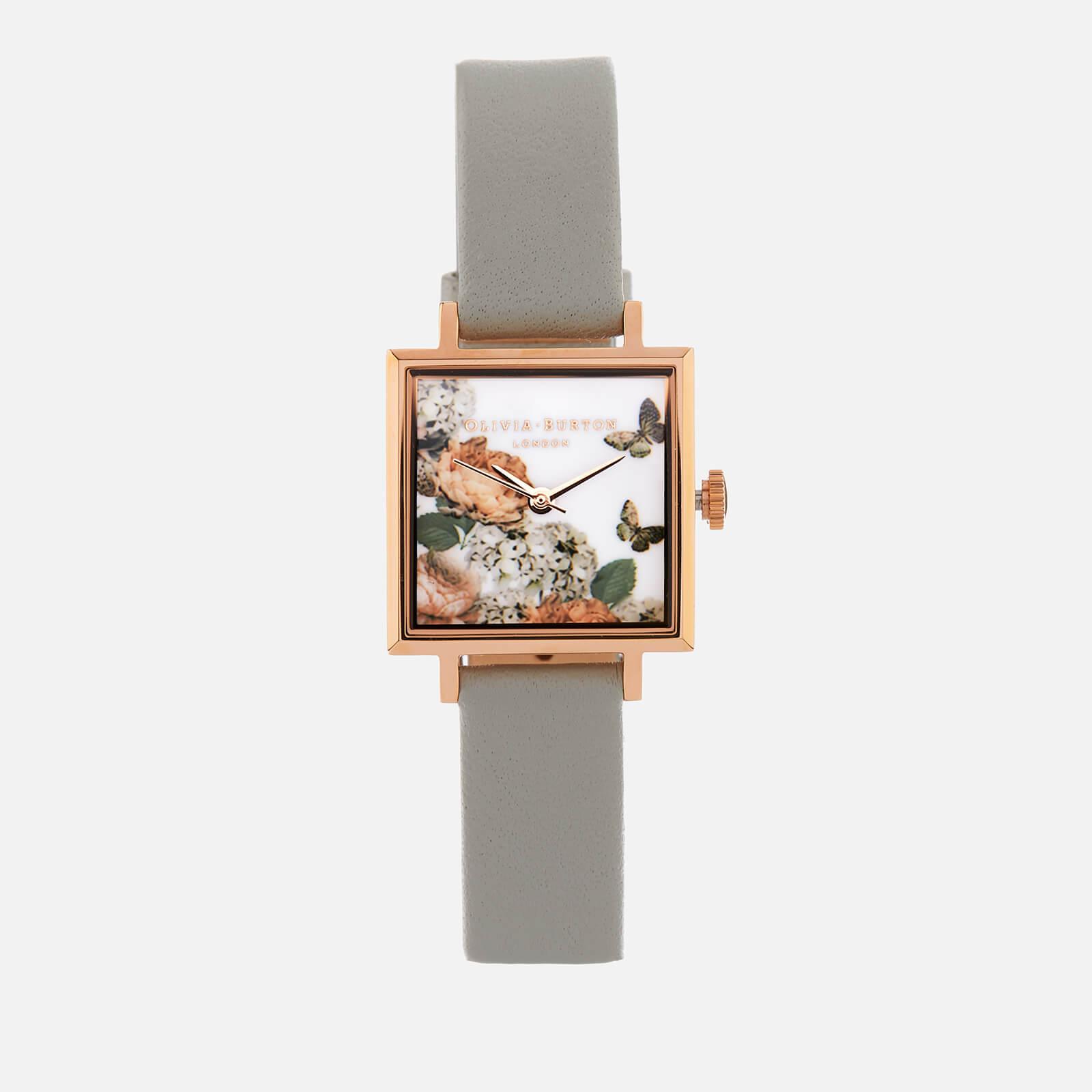 Olivia Burton Women's Signature Florals Watch - Grey/Rose Gold