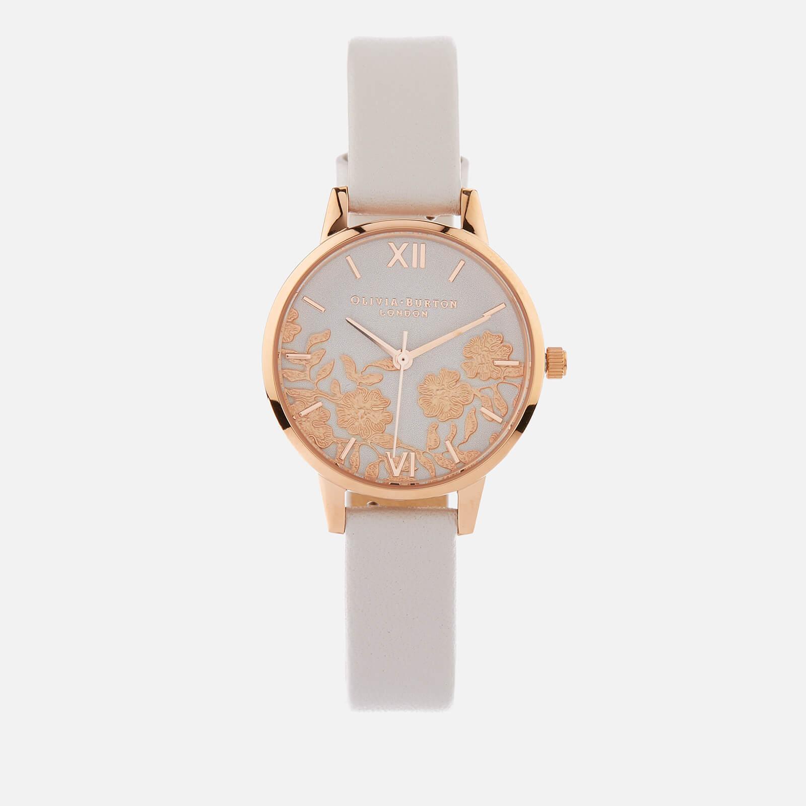 Olivia Burton Women's Lace Detail Watch - Blush/Rose Gold
