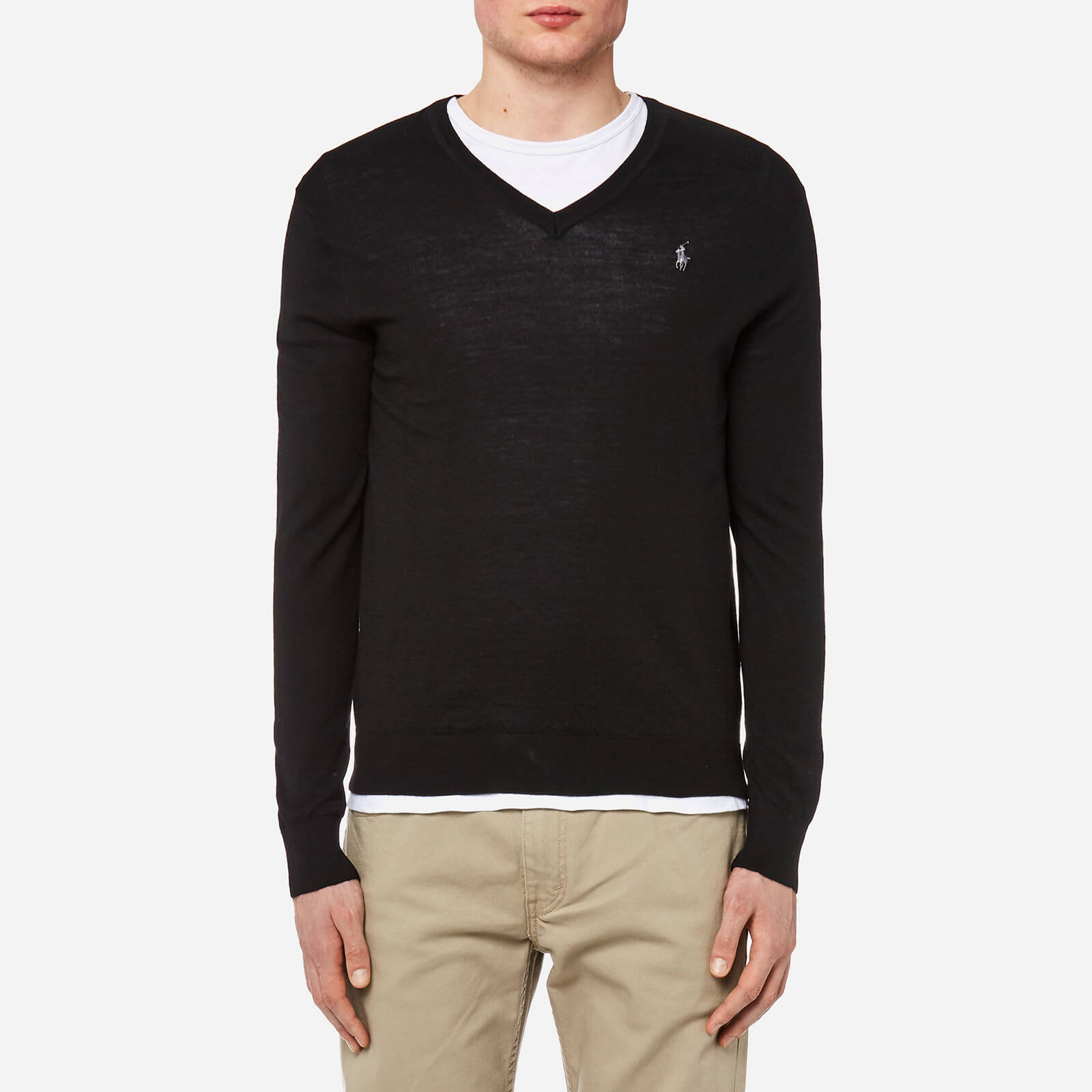 cdfe9c9ea7 Polo Ralph Lauren Men's Merino Wool V-Neck Jumper - Polo Black