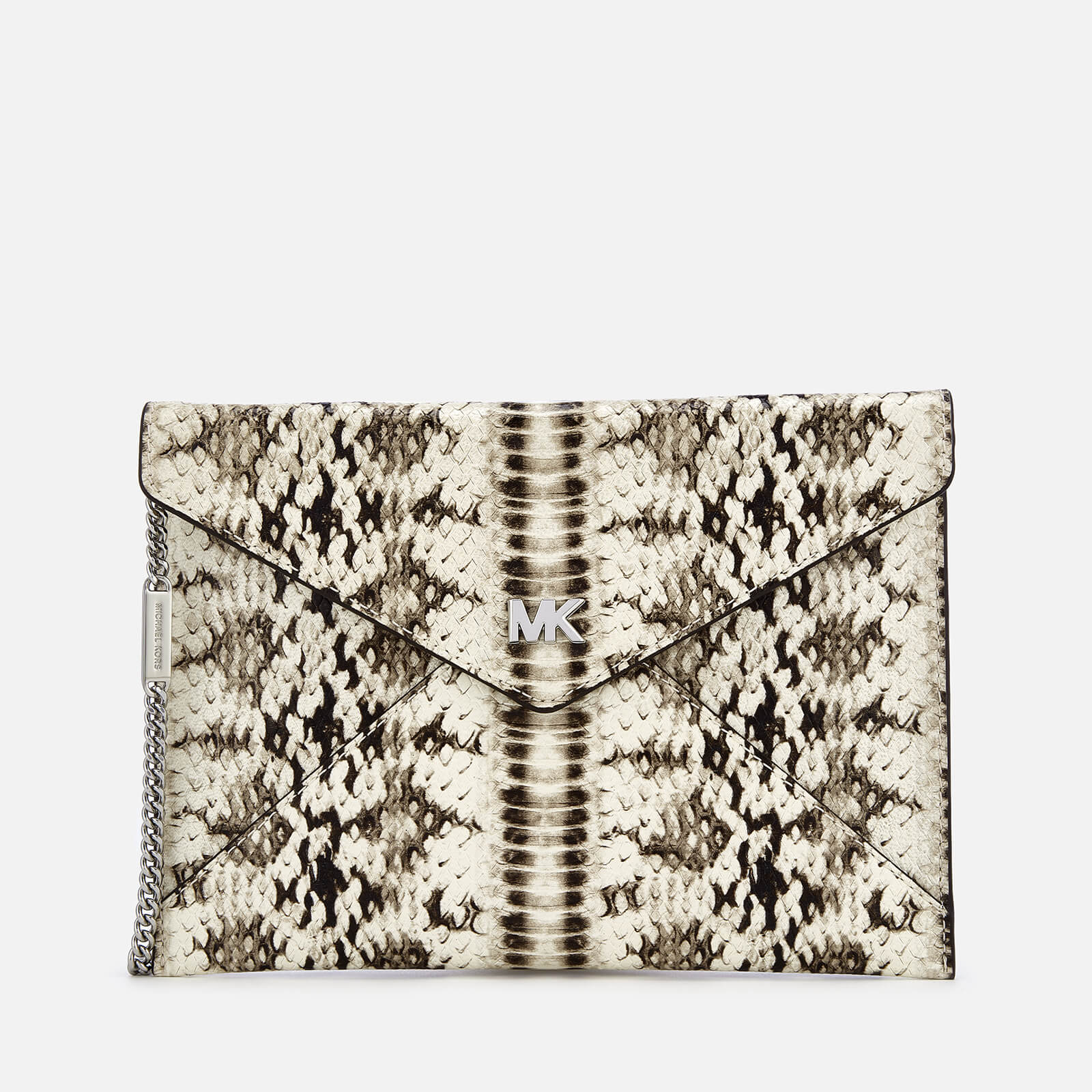 090008038c2a MICHAEL MICHAEL KORS Women s Snakeskin Envelope Clutch Bag - Natural - Free  UK Delivery over £50
