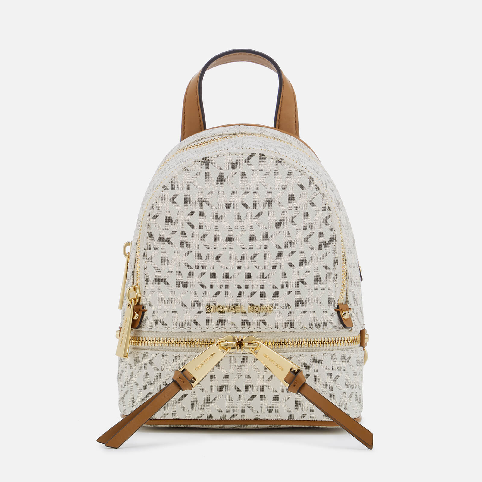 e94c6e4a46f1 MICHAEL MICHAEL KORS Women's Extra Small Messenger Backpack - Vanilla -  Free UK Delivery over £50