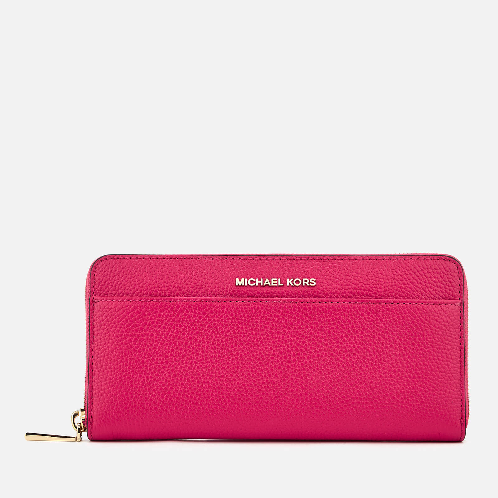 5917a0dcf32d35 MICHAEL MICHAEL KORS Women's Pocket Zip Around Continental Wallet - Ultra  Pink - Free UK Delivery over £50