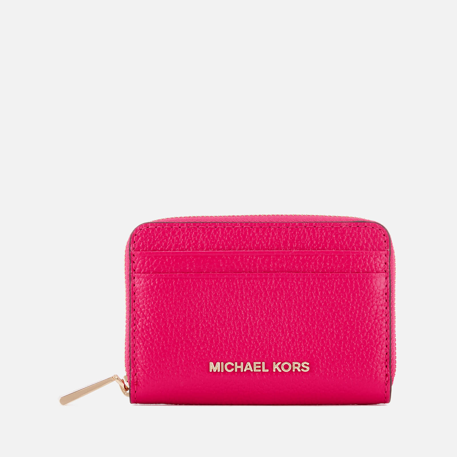 eb74122c987e2f MICHAEL MICHAEL KORS Women's Zip Around Card Case - Ultra Pink - Free UK  Delivery over £50
