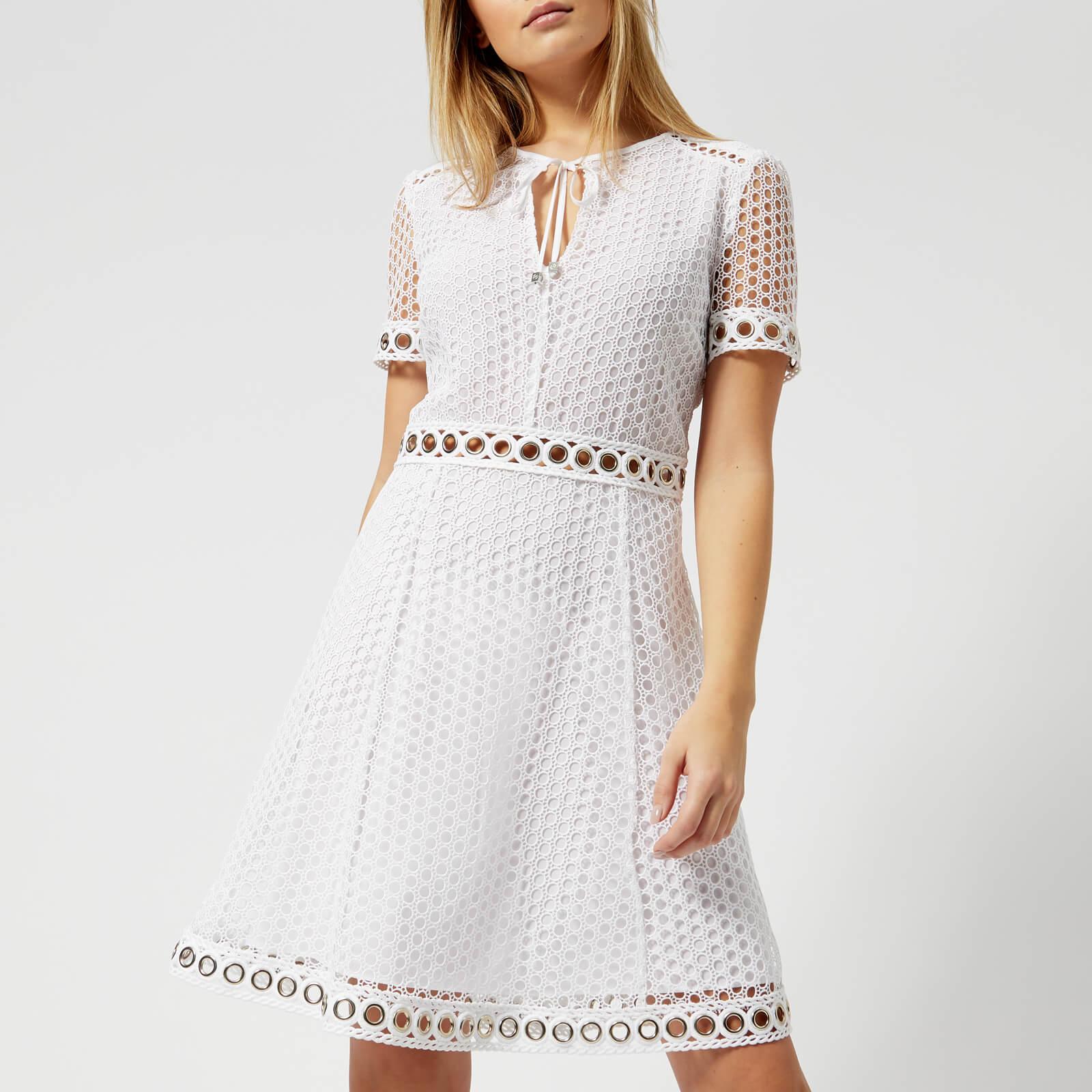 c4b408e0050 MICHAEL MICHAEL KORS Women s Lace Combo Dress - White Womens Clothing