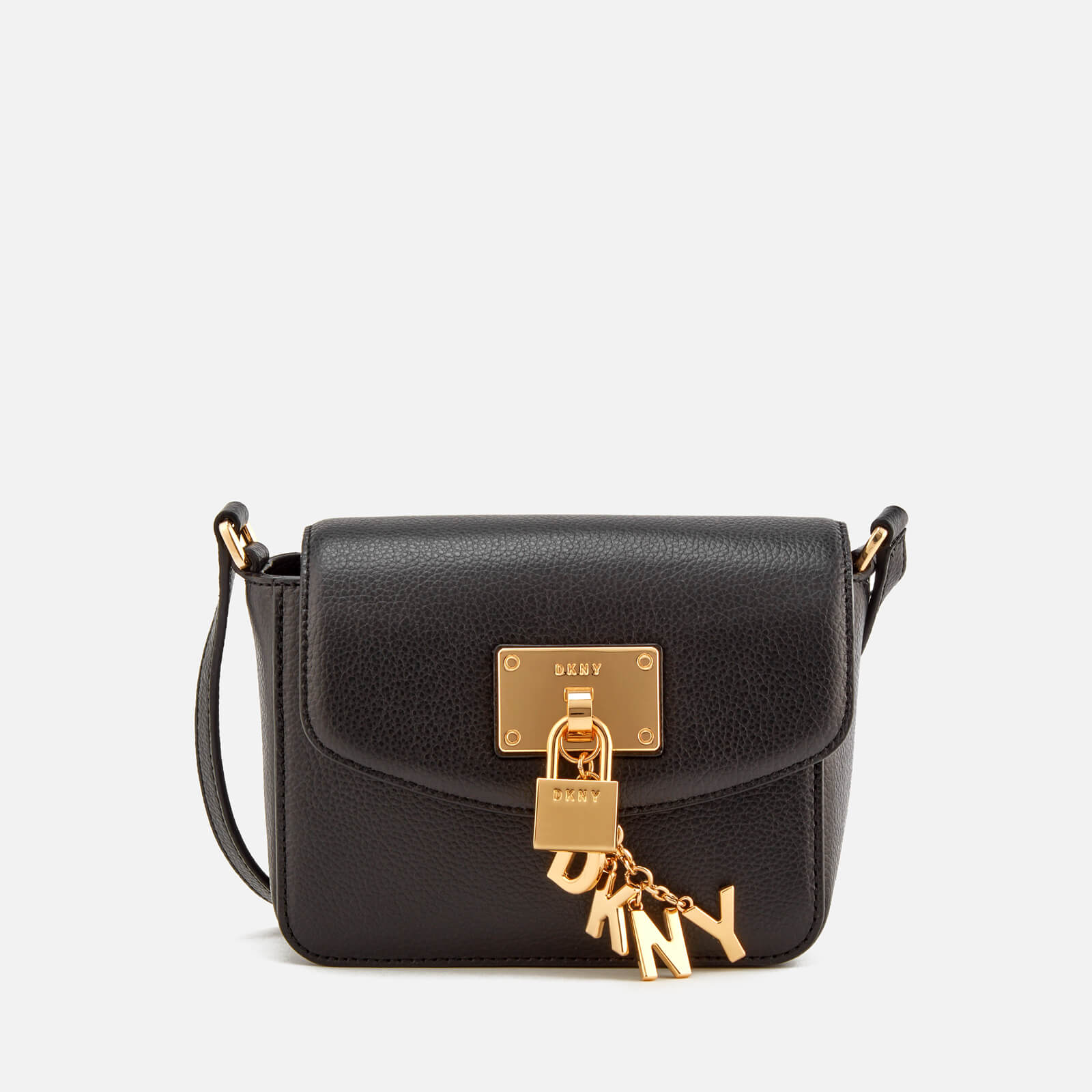 8c58382f0 DKNY Women's Elissa Small Flap Cross Body Bag - Black - Free UK Delivery  over £50