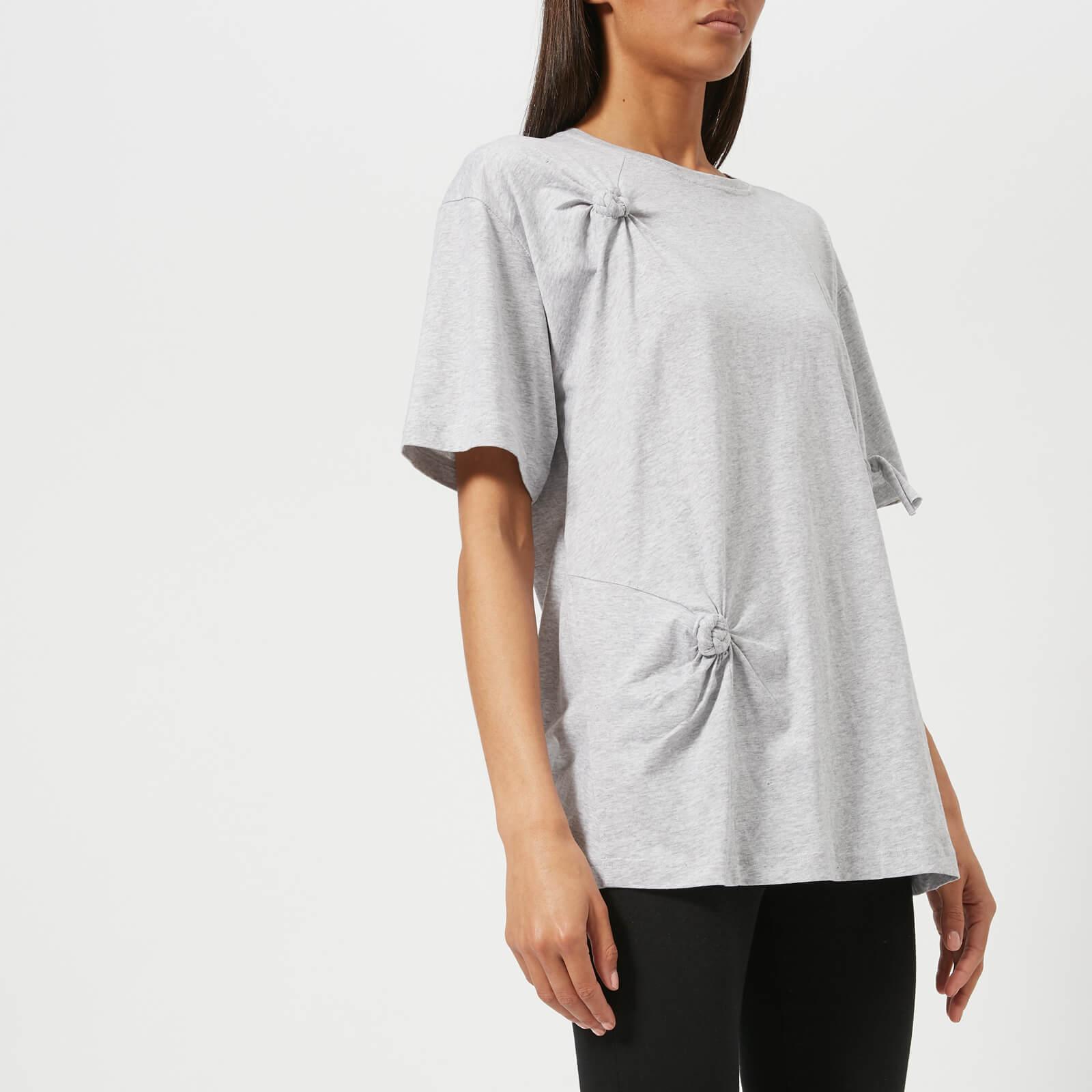 9ee2f6f21 Helmut Lang Women's Knot Detail Oversized T-Shirt - Grey Melange - Free UK  Delivery over £50