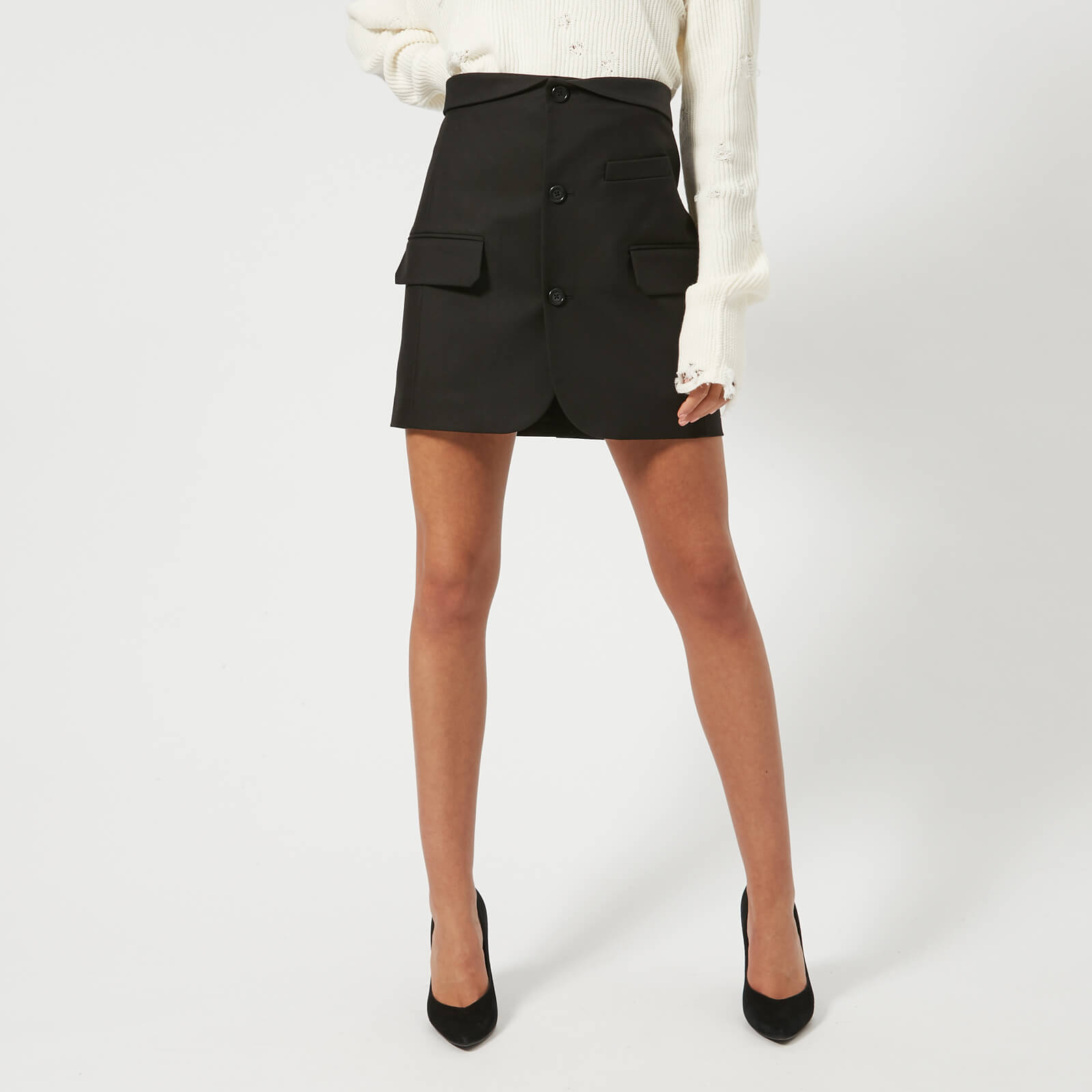 ccae34d01dfb Helmut Lang Women's Blazer Skirt - Black - Free UK Delivery over £50