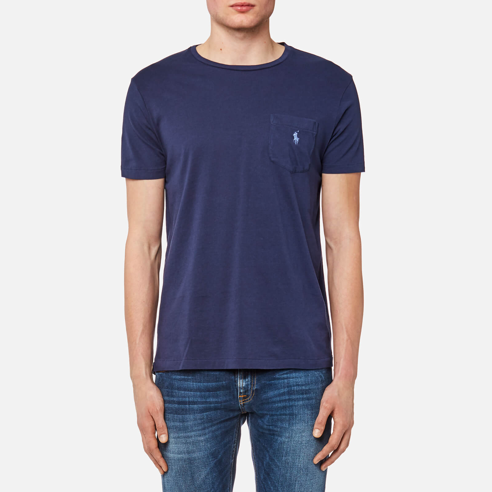 Polo Ralph Lauren Men s Logo Jersey Short Sleeve T-Shirt - Newport Navy -  Free UK Delivery over £50 ac0103896