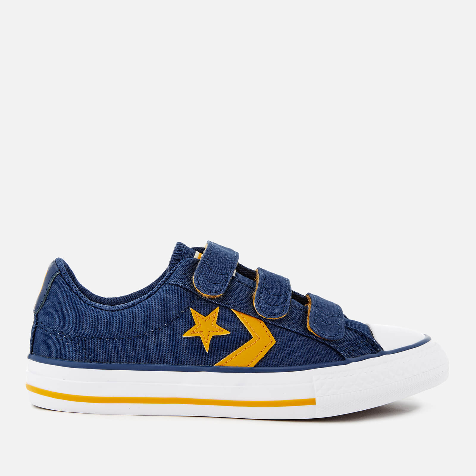 a5468d3625f630 Converse Kids  Star Player Ev 3V Ox Trainers - Navy Mineral Yellow White  Junior Clothing