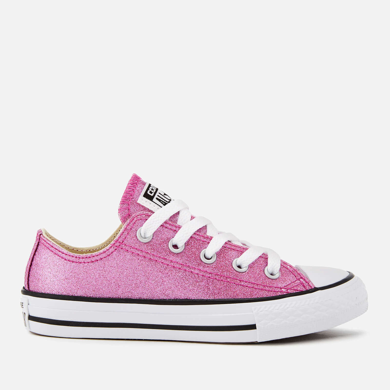 4d5ce08301c4 Converse Kids  Chuck Taylor All Star Ox Trainers - Bright  Violet Natural White Junior Clothing