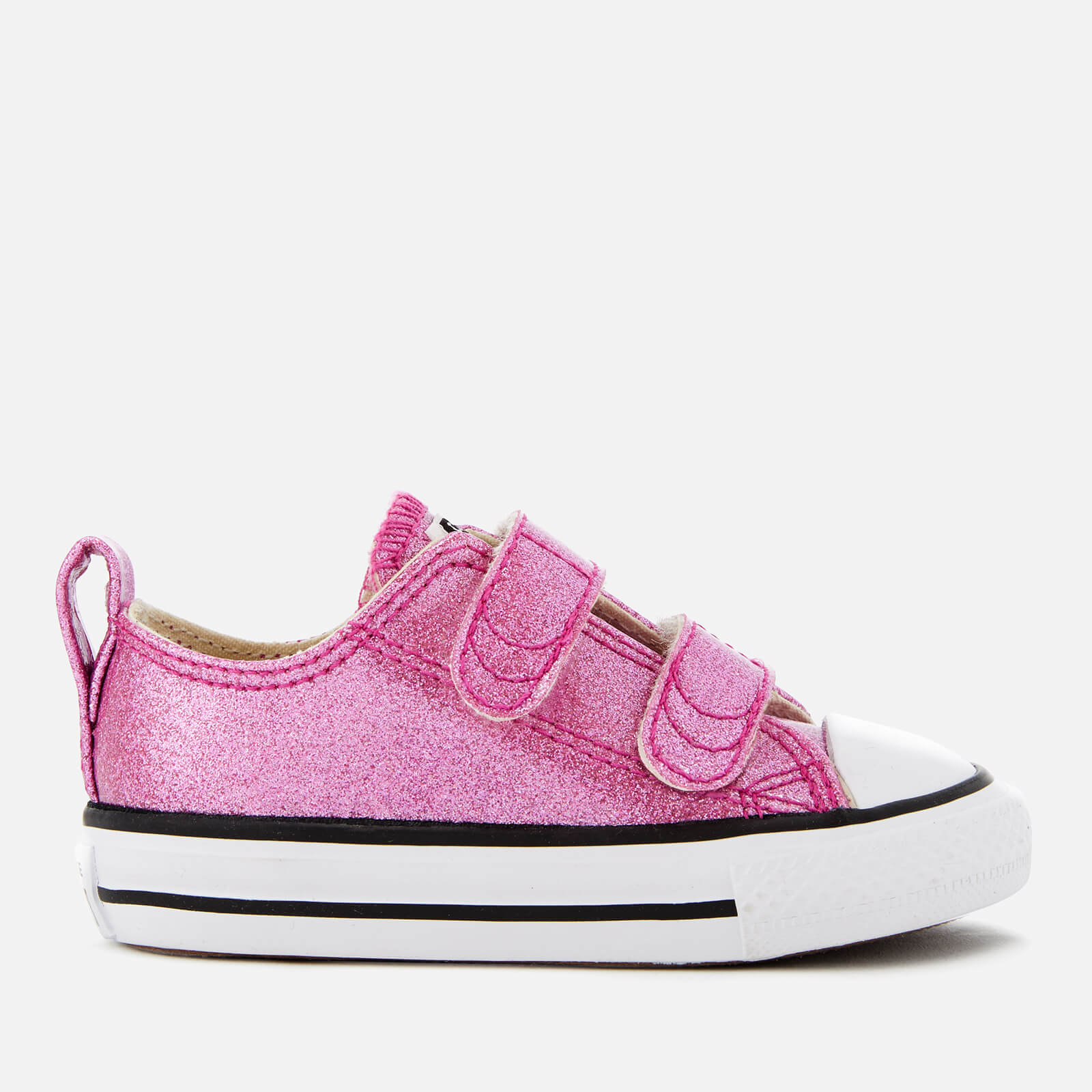 Converse Toddlers' Chuck Taylor All Star 2V Ox Trainers Bright VioletNaturalWhite