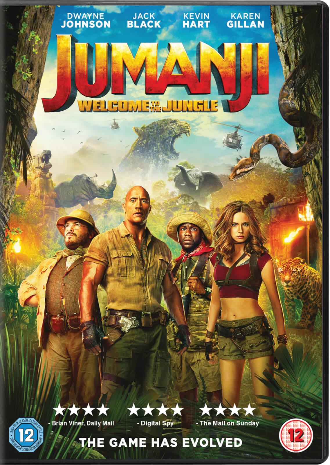 Jumanji: Welcome To The Jungle DVD | Zavvi