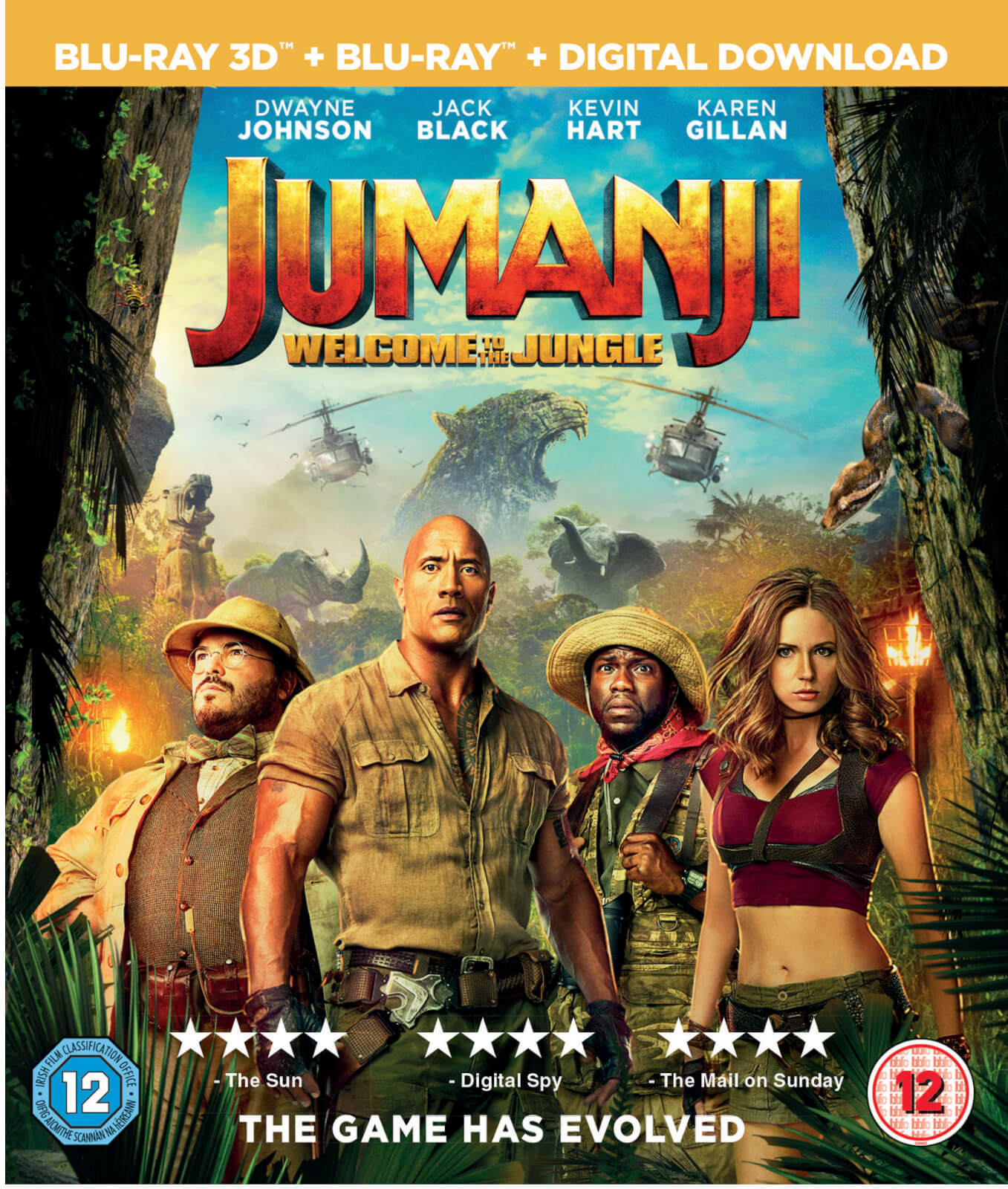 Jumanji: Welcome To The Jungle 3D (Includes 2D Version)