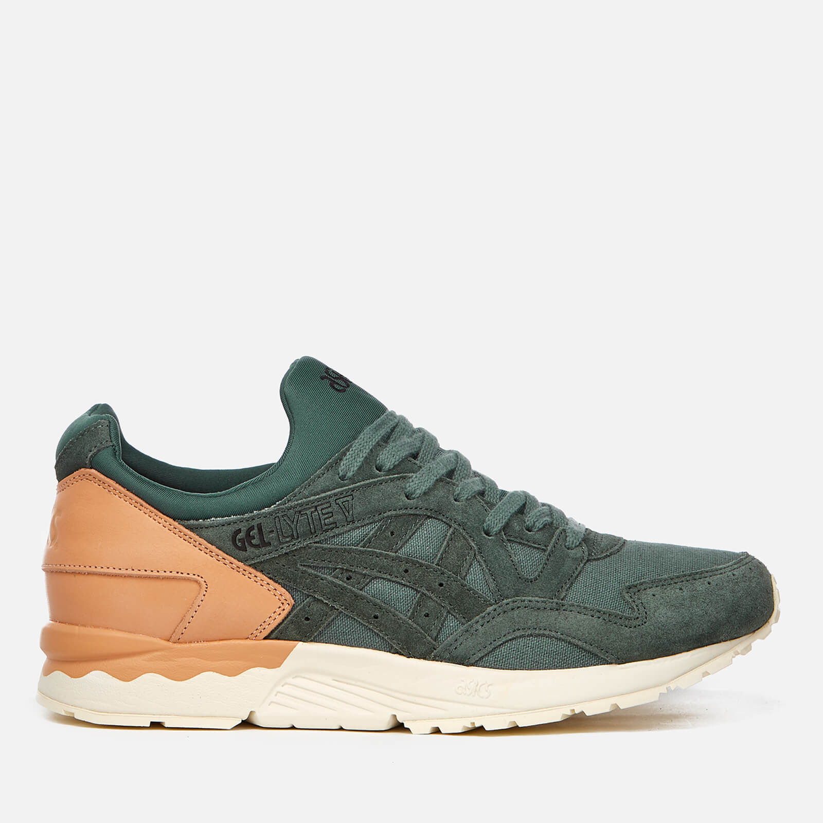 classic fit 2e106 f94d2 Asics Lifestyle Men's Gel-Lyte V Canvas Trainers - Dark Forest