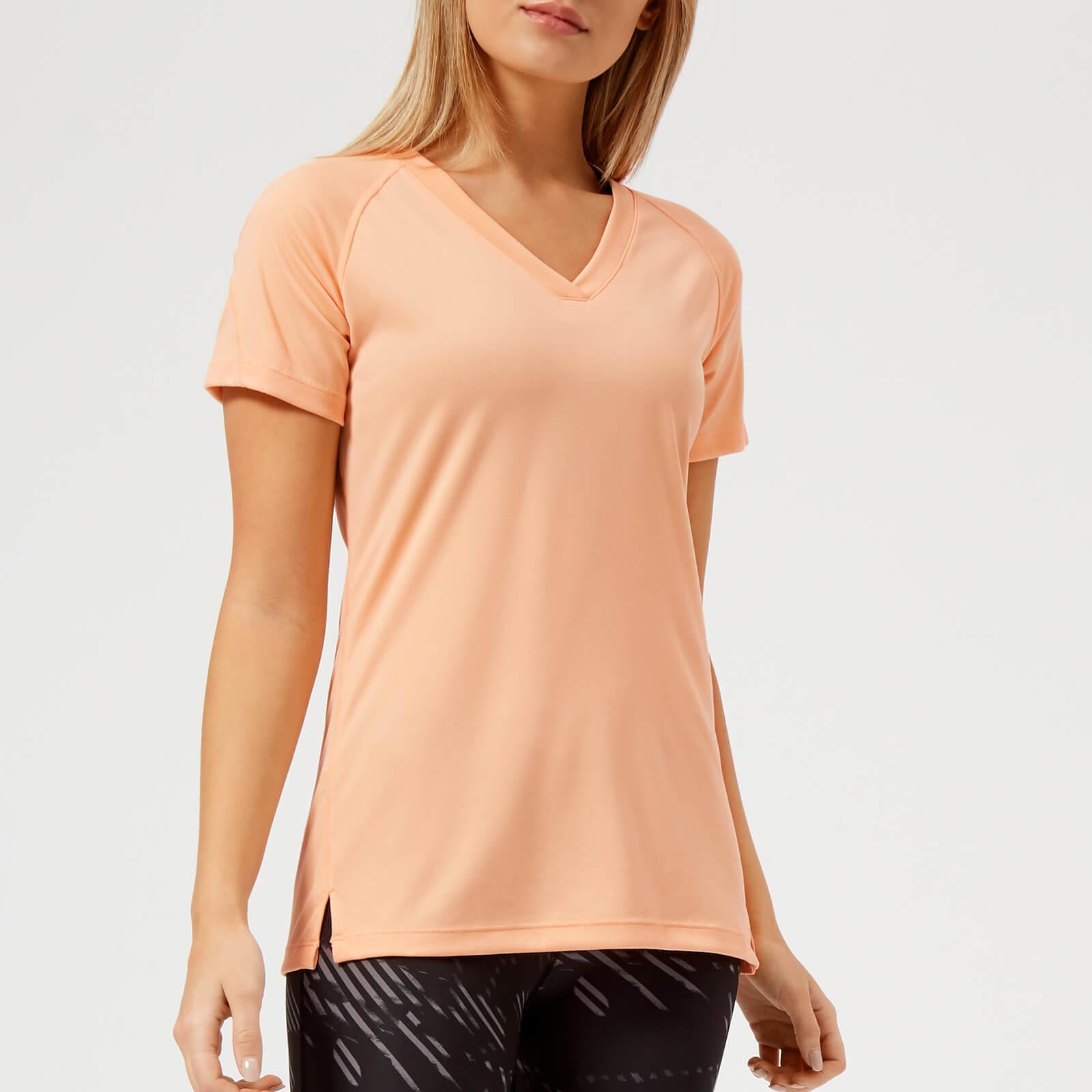 499862480c93 Asics Running Women's V Neck Short Sleeve Top - Apricot Ice Sports &  Leisure   TheHut.com