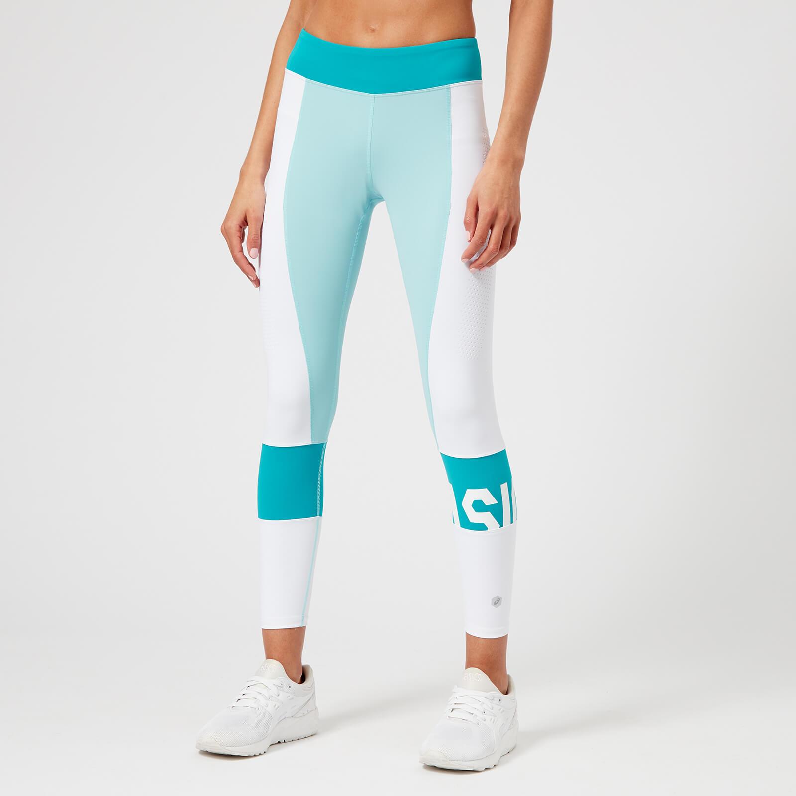 dd80315278c2 Asics Running Women s Colour Block 7 8 Tights - Porcelain Blue ...