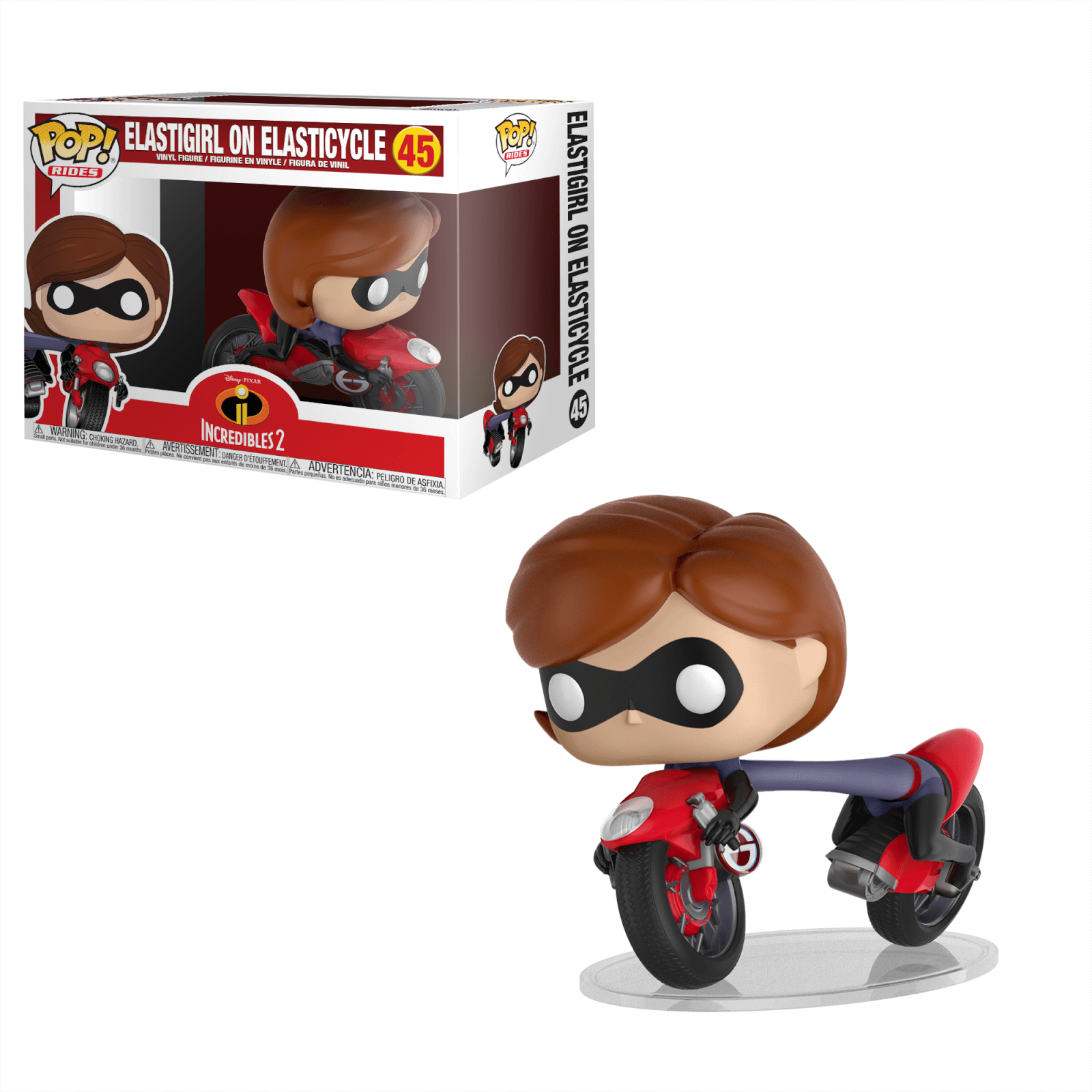 7a921cb734813 Figurine Pop! Elastigirl sur Moto Les Indestructibles Disney - Vinyl Ride |  Pop In A Box France