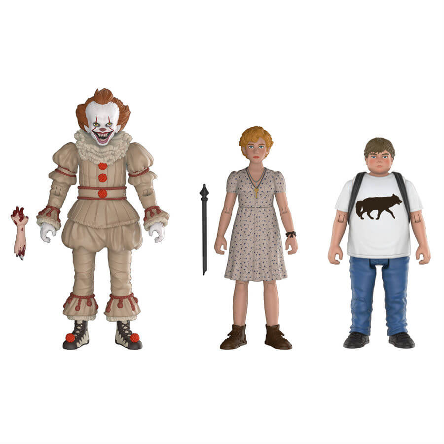 IT Pennywise, Beverly and Ben Action Figures 3-Pack